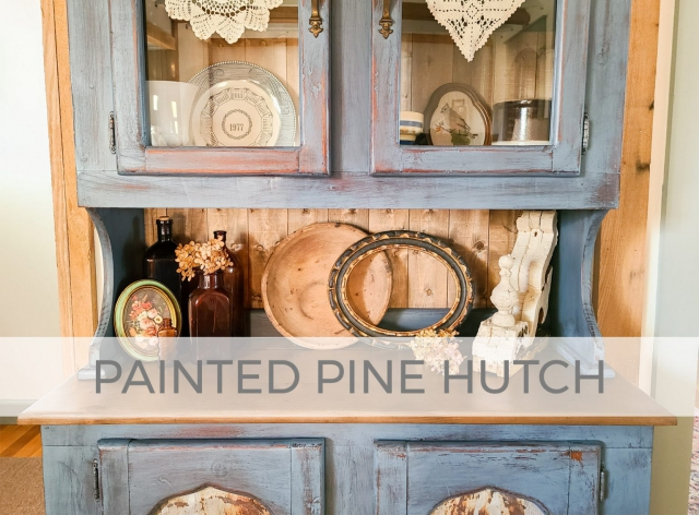 Blue Painted Pine Hutch by Larissa of Prodigal Pieces | prodigalpieces.com #prodigalpieces