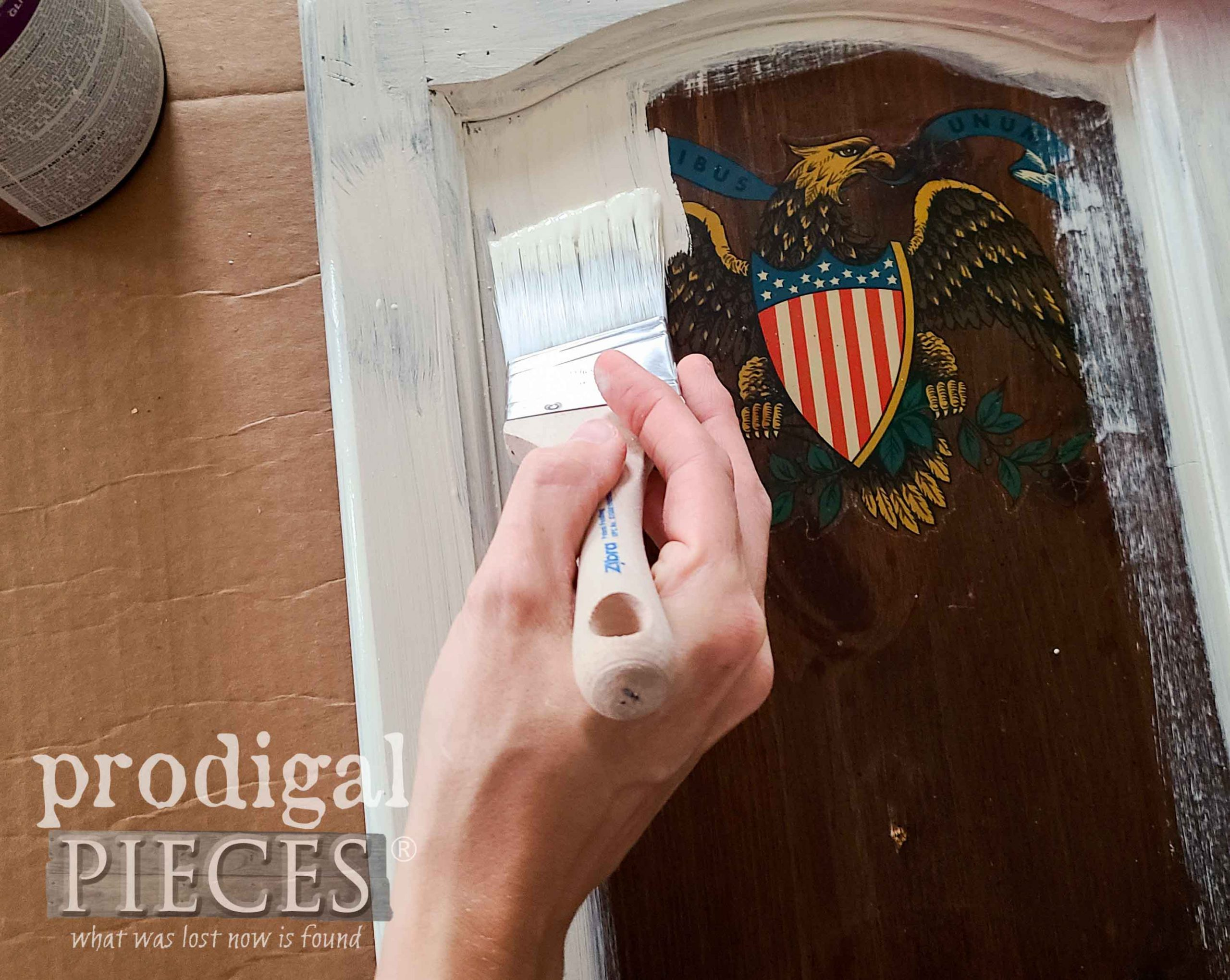 Painting Cupboard Door | prodigalpieces.com #prodigalpieces
