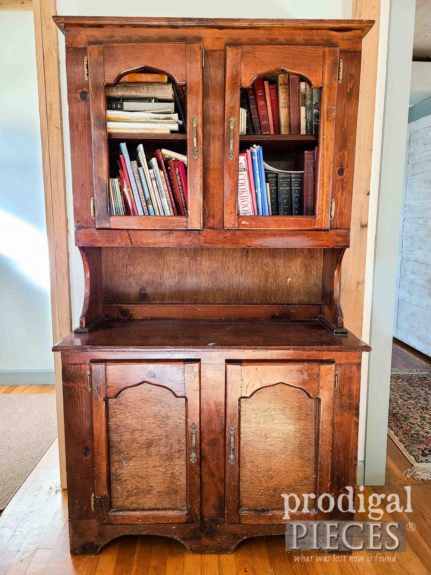 Pine Hutch Before Makeover by Larissa of Prodigal Pieces | prodigalpieces.com #prodigalpieces