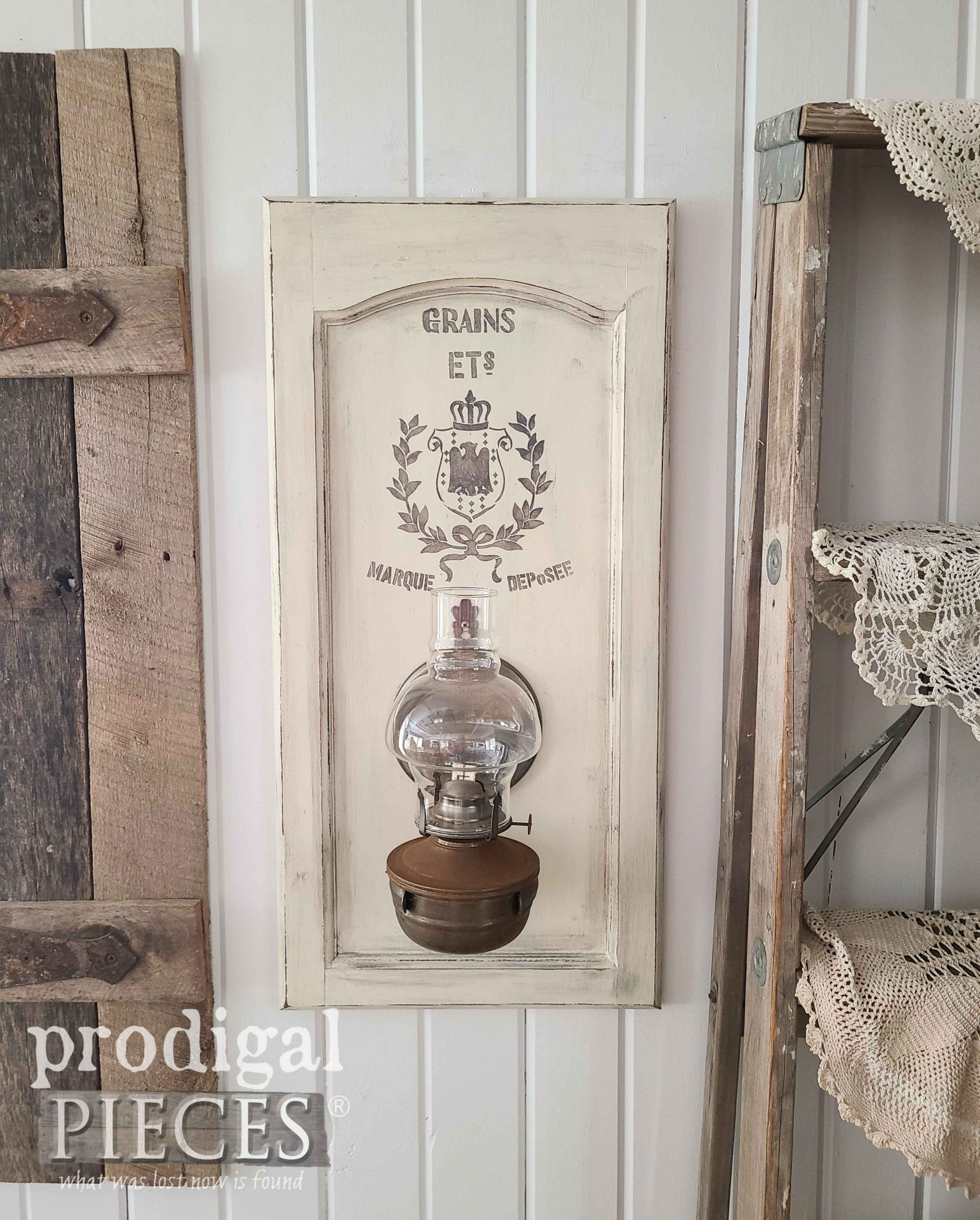 Rustic Chic Farmhouse Oil Lamp by Larissa of Prodigal Pieces | prodigalpieces.com #prodigalpieces #farmhouse #home #homedecor