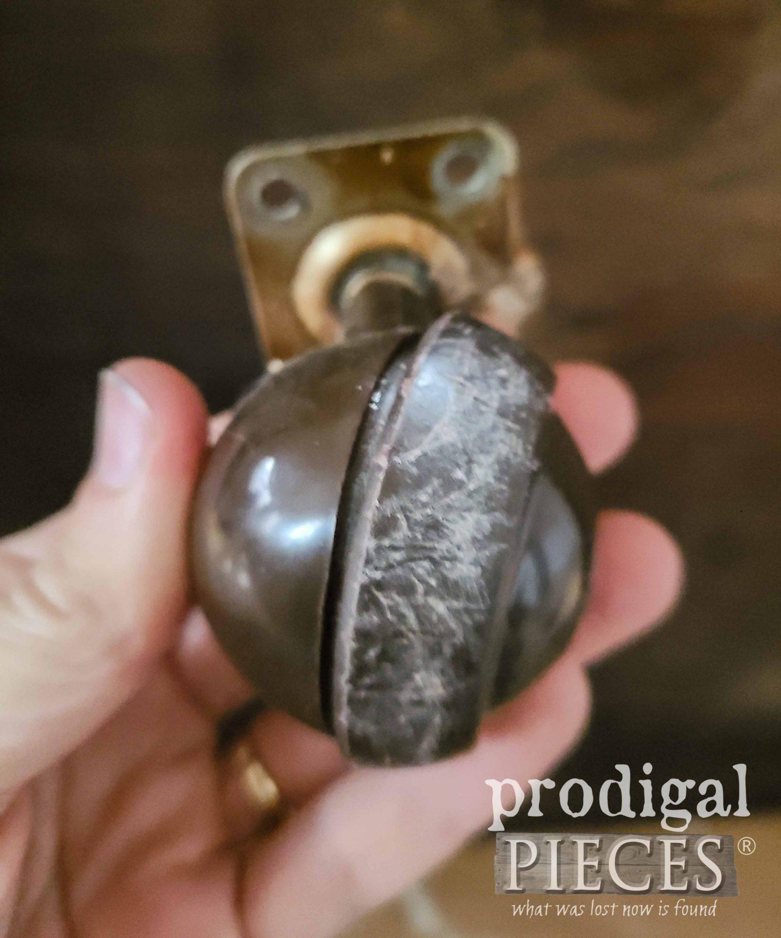 Damaged Ball Casters | prodigalpieces.com