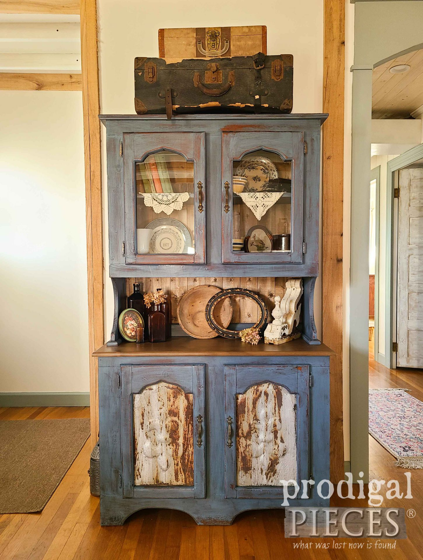 Vintage Farmhouse Hutch in Salvage Style Makeover by Larissa of Prodigal Pieces | prodigalpieces.com #prodigalpieces #furniture #farmhouse #diy #home #homedecor