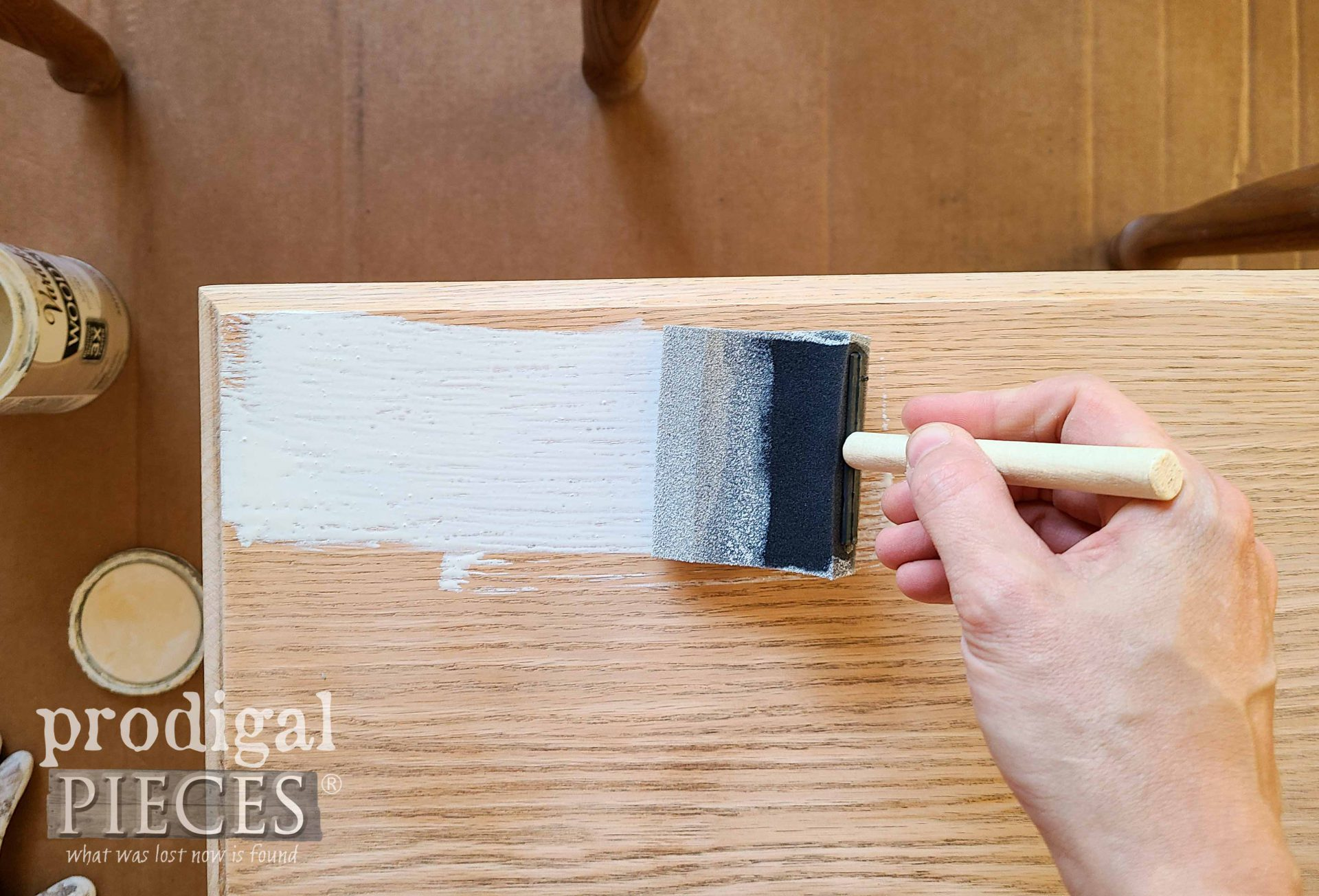 Antique White Stain for Vintage Stacking Tables | prodigalpieces.com