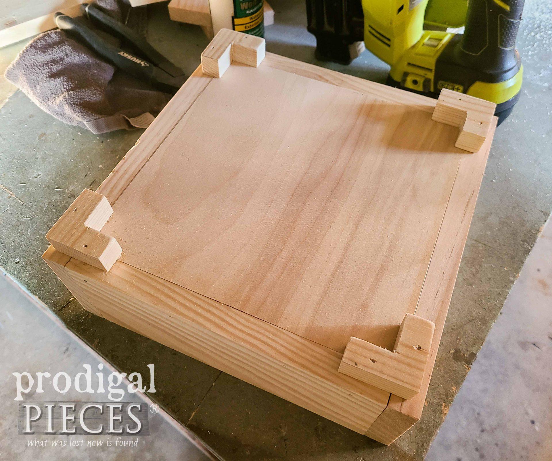 Attaching DIY Gift Box Feet | prodigalpieces.com #prodigalpieces