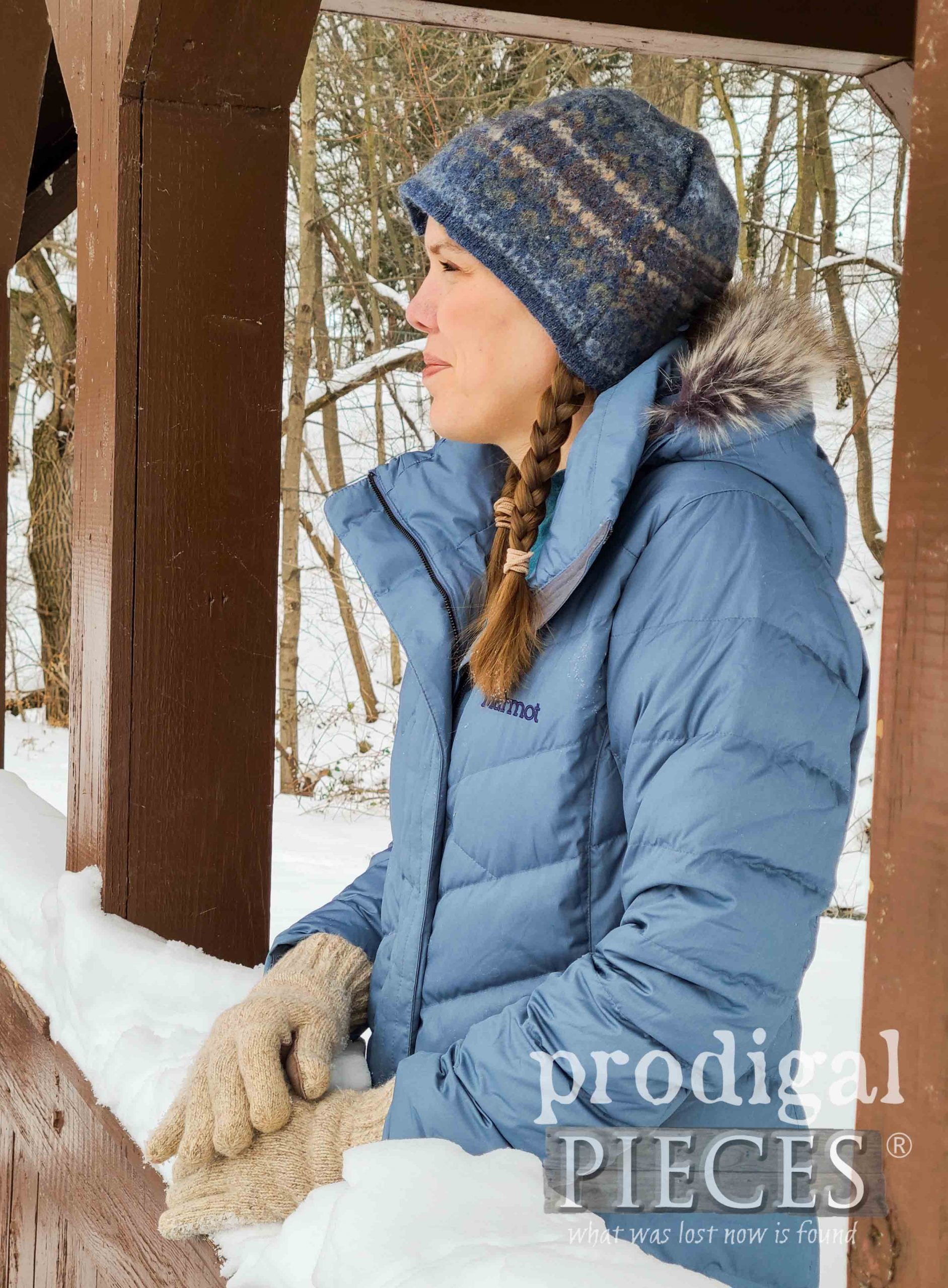 Blue Felted Wool Hat for Winter by Larissa of Prodigal Pieces | prodigalpieces.com #prodigalpieces #handmade #sewing #fashion #diy