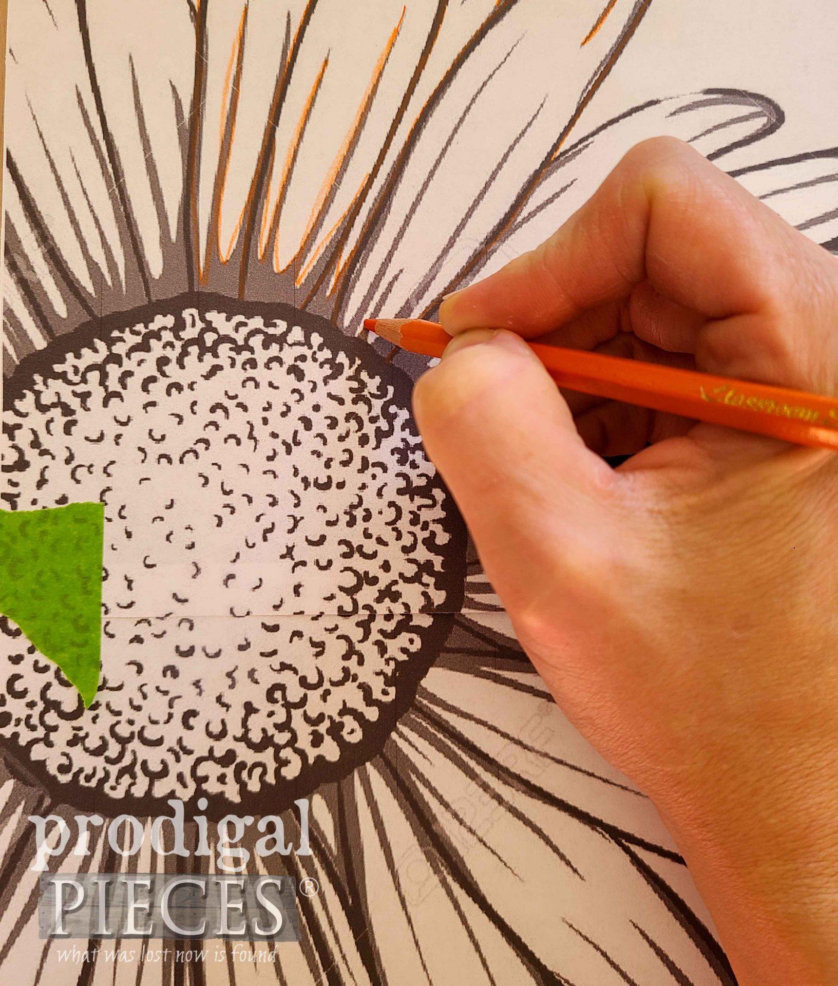 DIY Daisy Flower Transfer | prodigalpieces.com