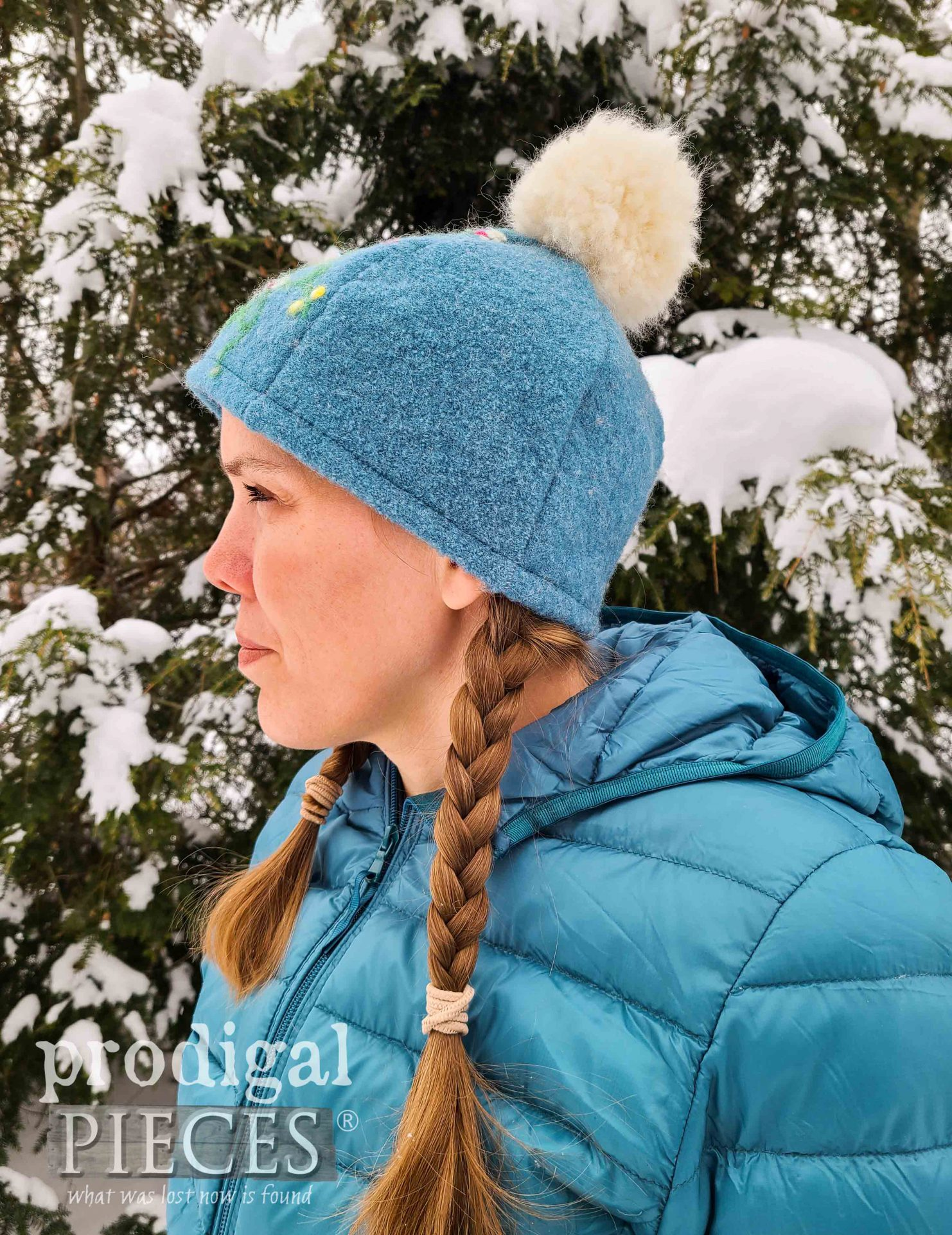 DIY Felted Wool Hat from Upcycled Sweaters by Larissa of Prodigal Pieces | prodigalpieces.com #prodigalpieces #handmade #sewing #fashion #hat #wool