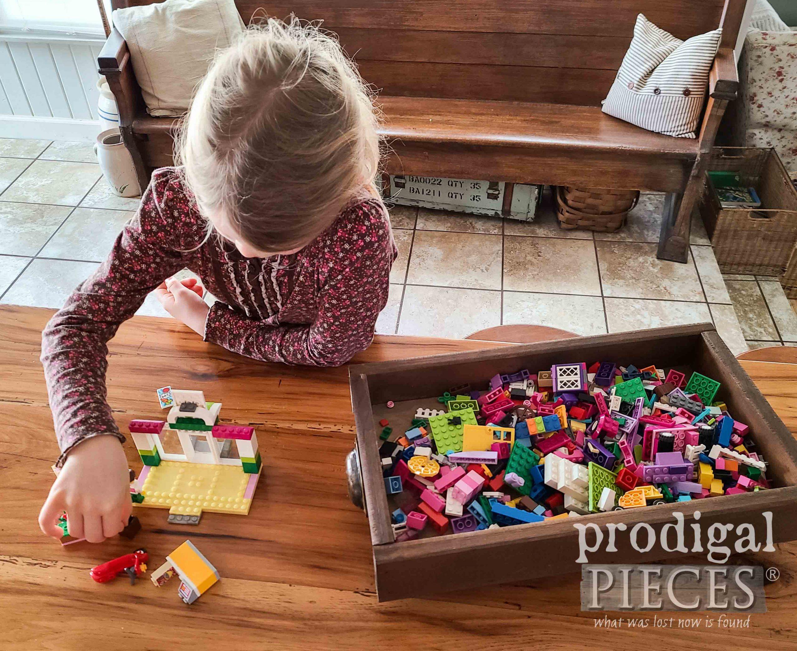 DIY Wood Slat Lego Tray for Storage by Larissa of Prodigal Pieces | prodigalpieces.com #prodigalpieces #handmade #home #lego #toys