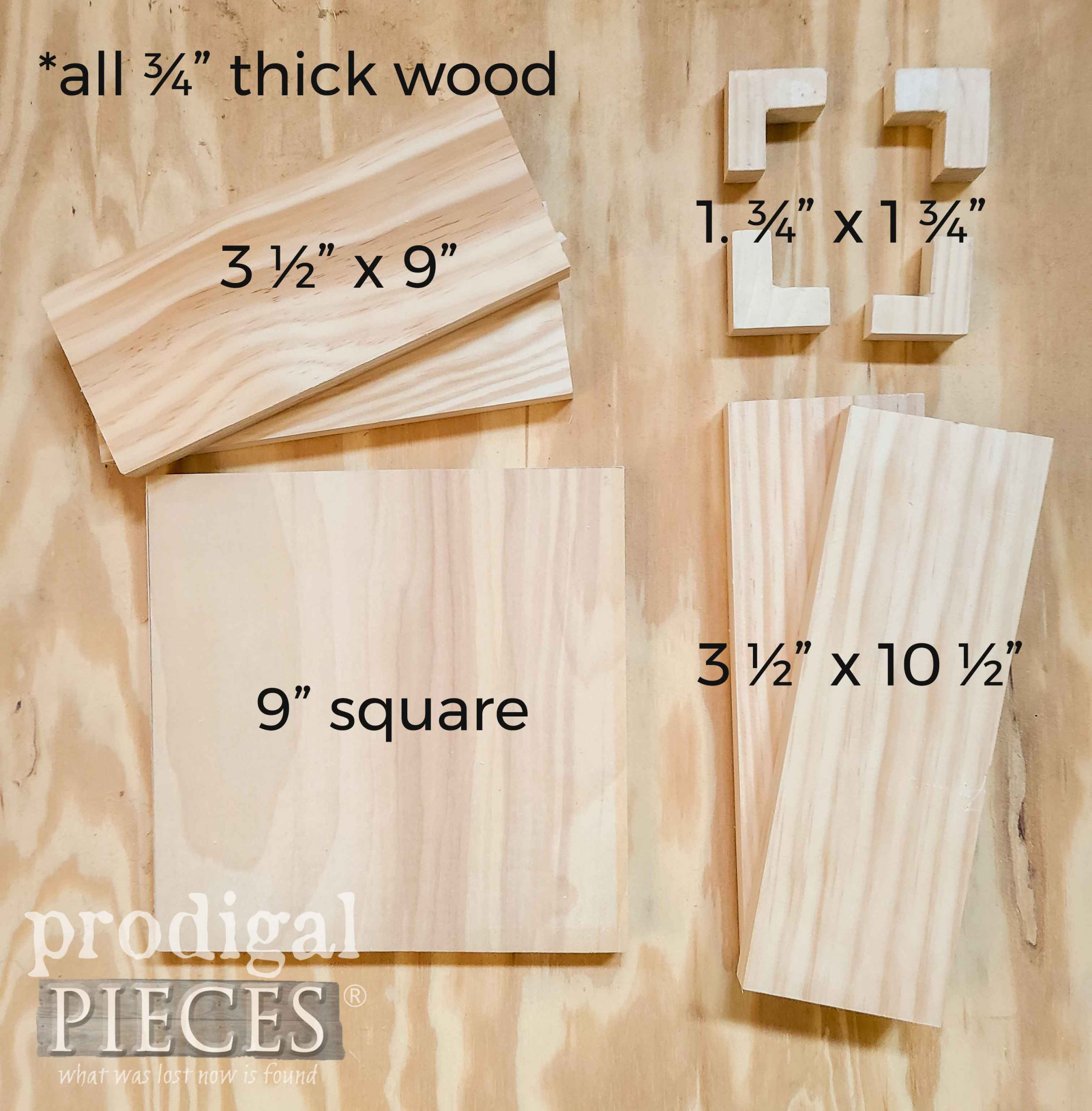 DIY Wooden Gift Box Pieces Diagram by Larissa of Prodigal Pieces | prodigalpieces.com #prodigalpieces #diy #tutorial #handmade #gift #woodworking