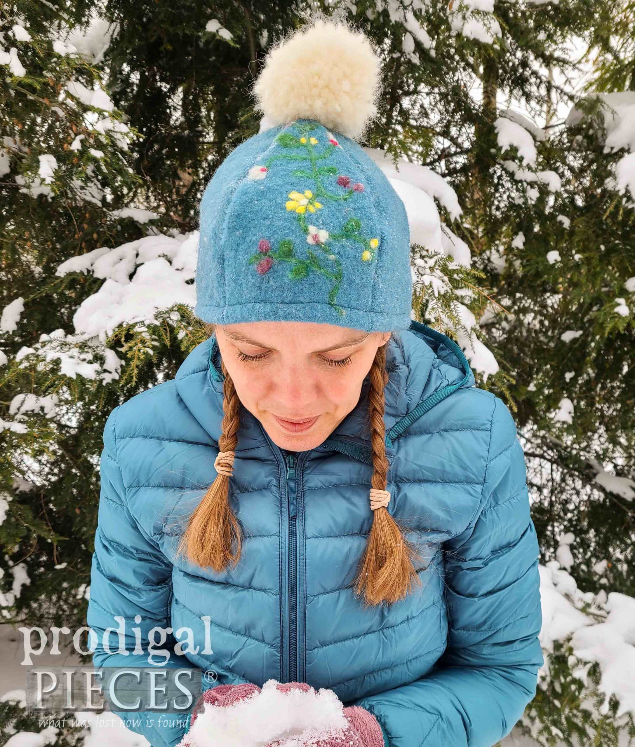 Handmade Embroidered Felted Wool Hat by Larissa of Prodigal Pieces | prodigalpieces.com #prodigalpieces #hat #fashion #handmade #wool #upcycled
