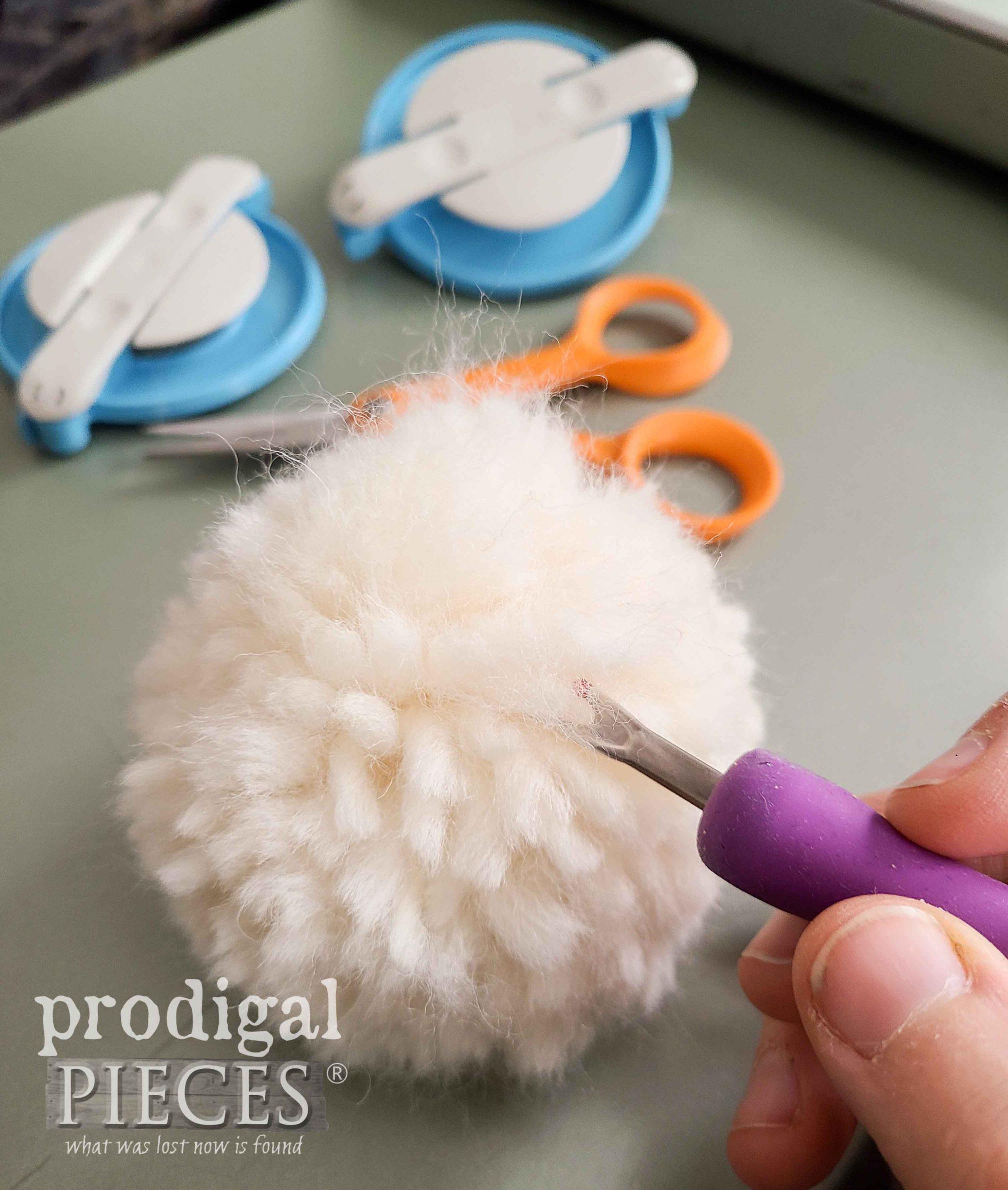 Fluffing Wool Pom-Pom | Prodigal Pieces | prodigalpieces.com