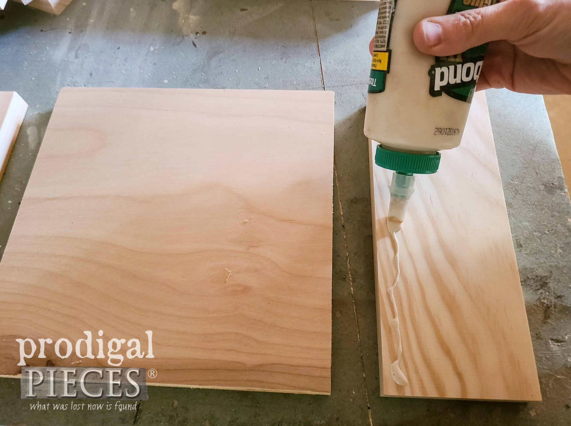 Gluing DIY Wooden Gift Box with Tutorial by Larissa of Prodigal Pieces | prodigalpieces.com #prodigalpieces #handmade #woodworking #diy