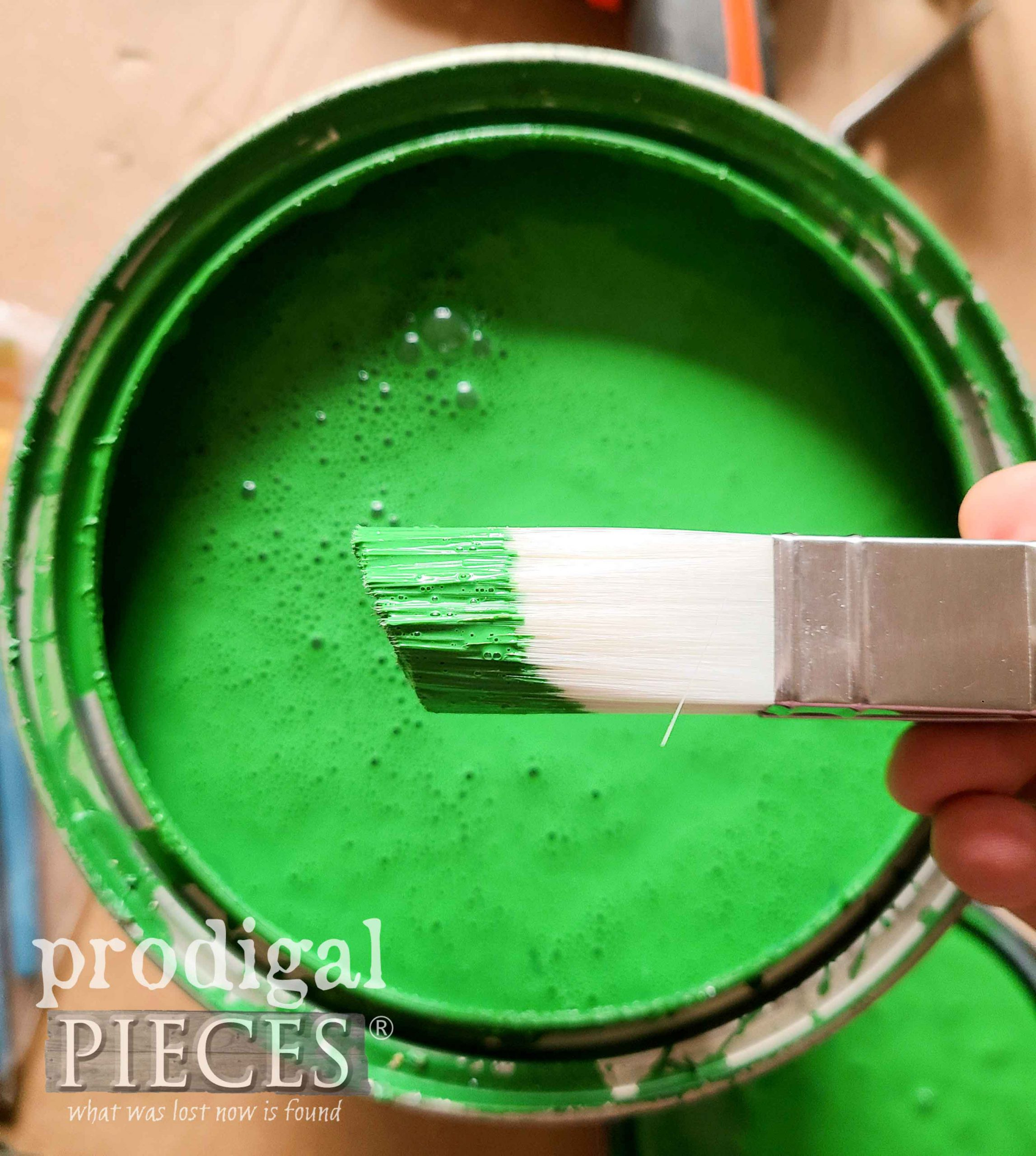 Green Paint for Upcycled Treehouse Playset by Prodigal Pieces | prodigalpieces.com