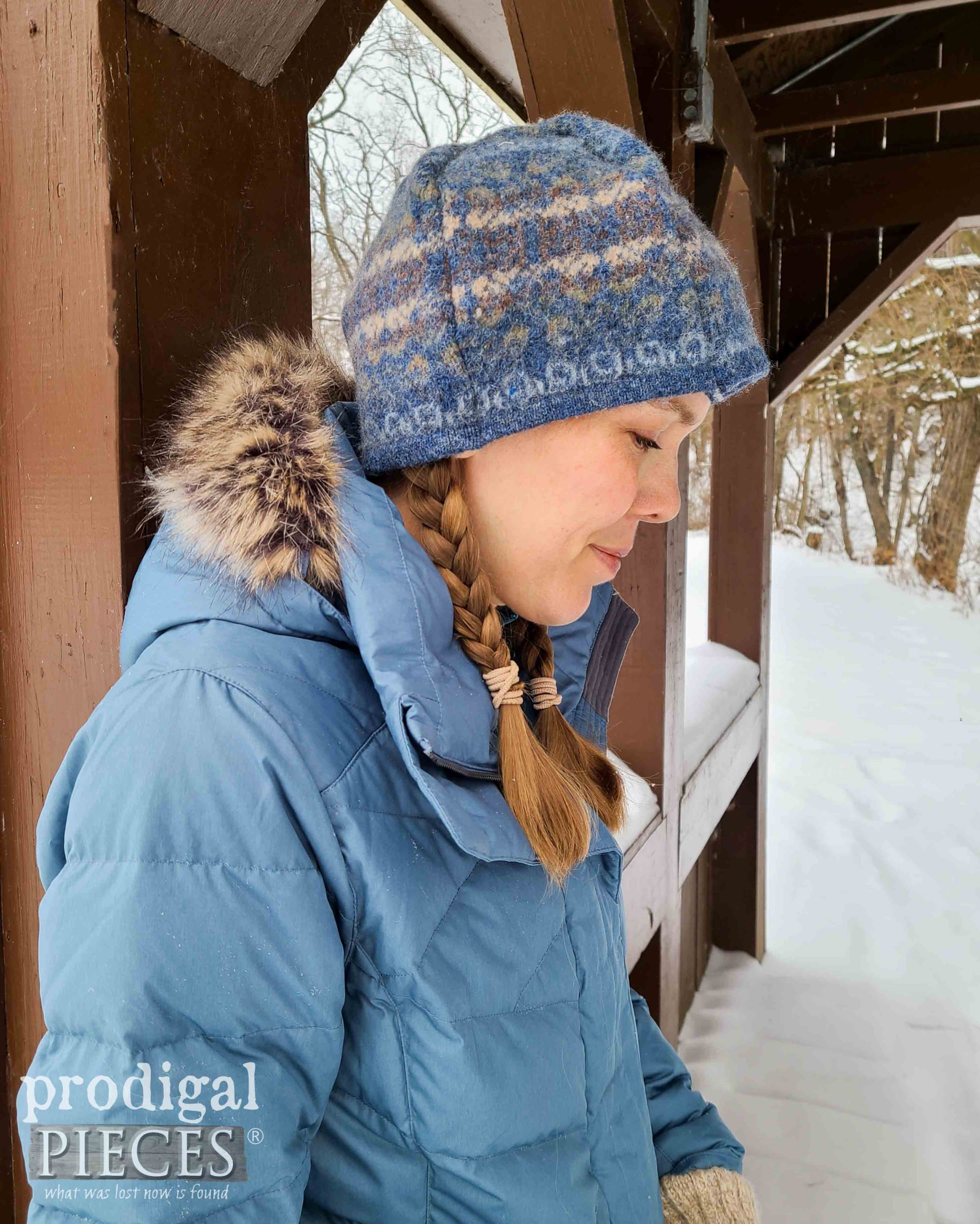 Handmade Felted Wool Sweater Hat made by Larissa of Prodigal Pieces | prodigalpieces.com #prodigalpieces #sewing #fashion #handmade