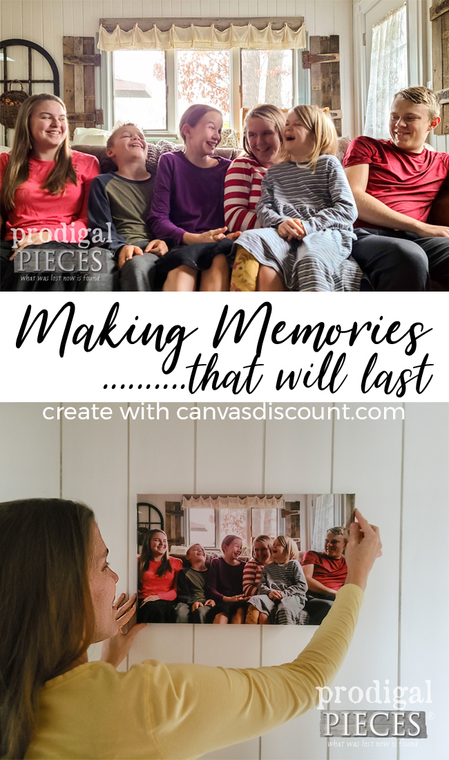 Celebrate the precious times in life by making memories last. Come see how Larissa of Prodigal Pieces and enter to WIN a CanvasDiscount Voucher of $100. | Head to prodigalpieces.com #prodigalpieces #giveaway #family #memories #home #homedecor