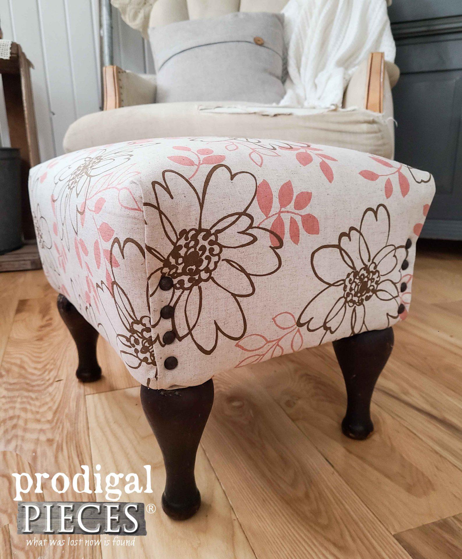 Modern Linen Footstool by Larissa of Prodigal Pieces | prodigalpieces.com #prodigalpieces