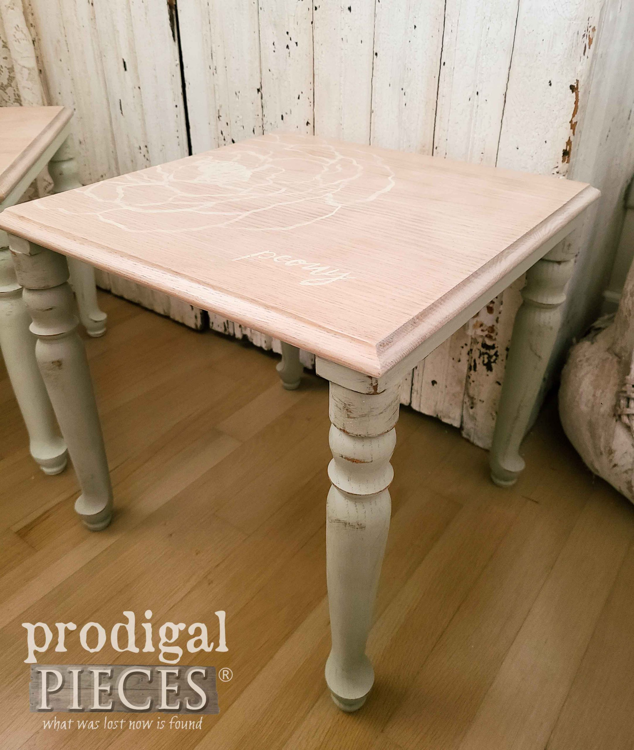 Painted Peony Flower Vintage Stacking Table by Prodigal Pieces | prodigalpieces.com #prodigalpieces #home #homedecor #furniture