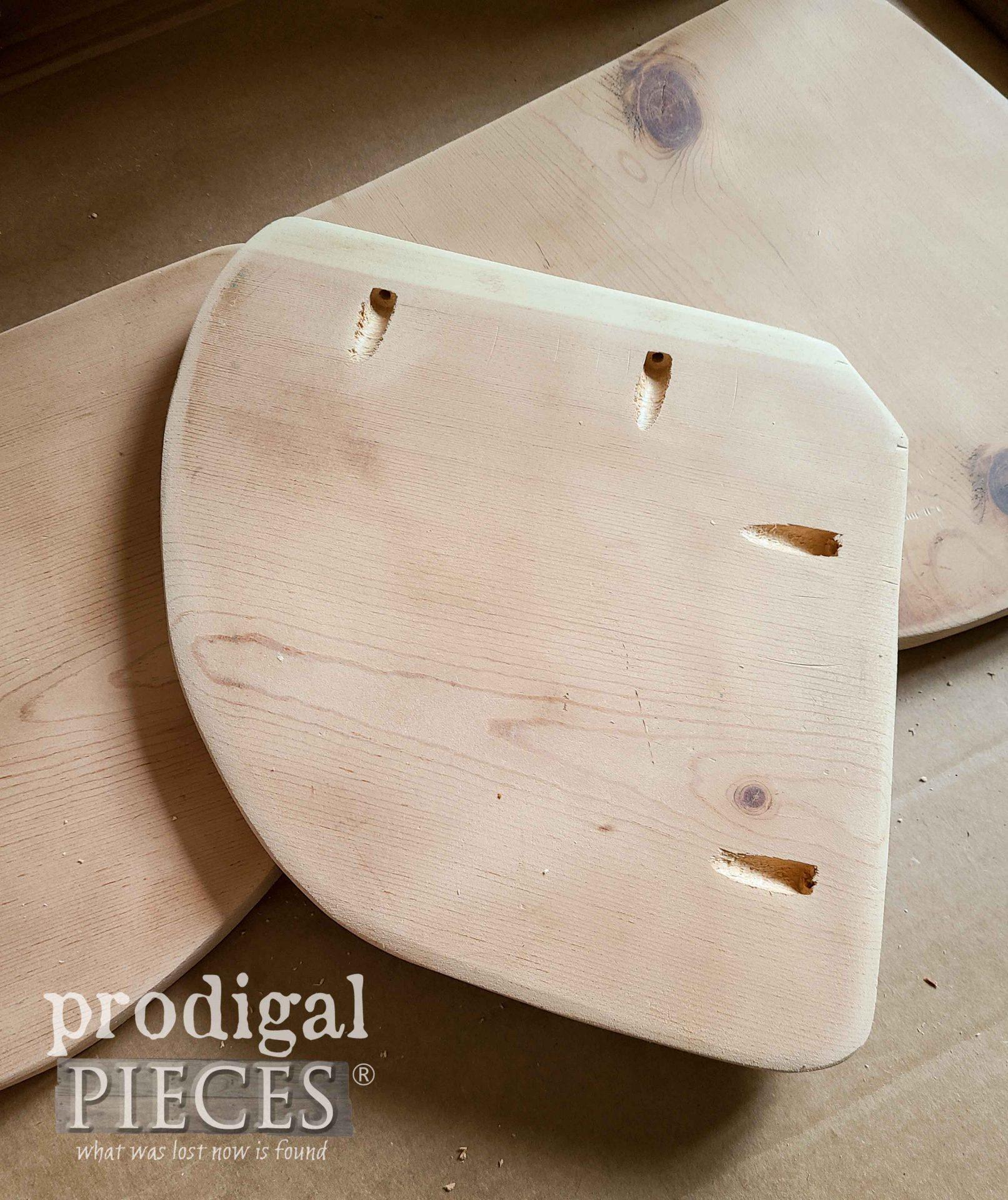 Pocket Hole Shelf for Upcycled Quilt Rack | prodigalpieces.com #prodigalpieces