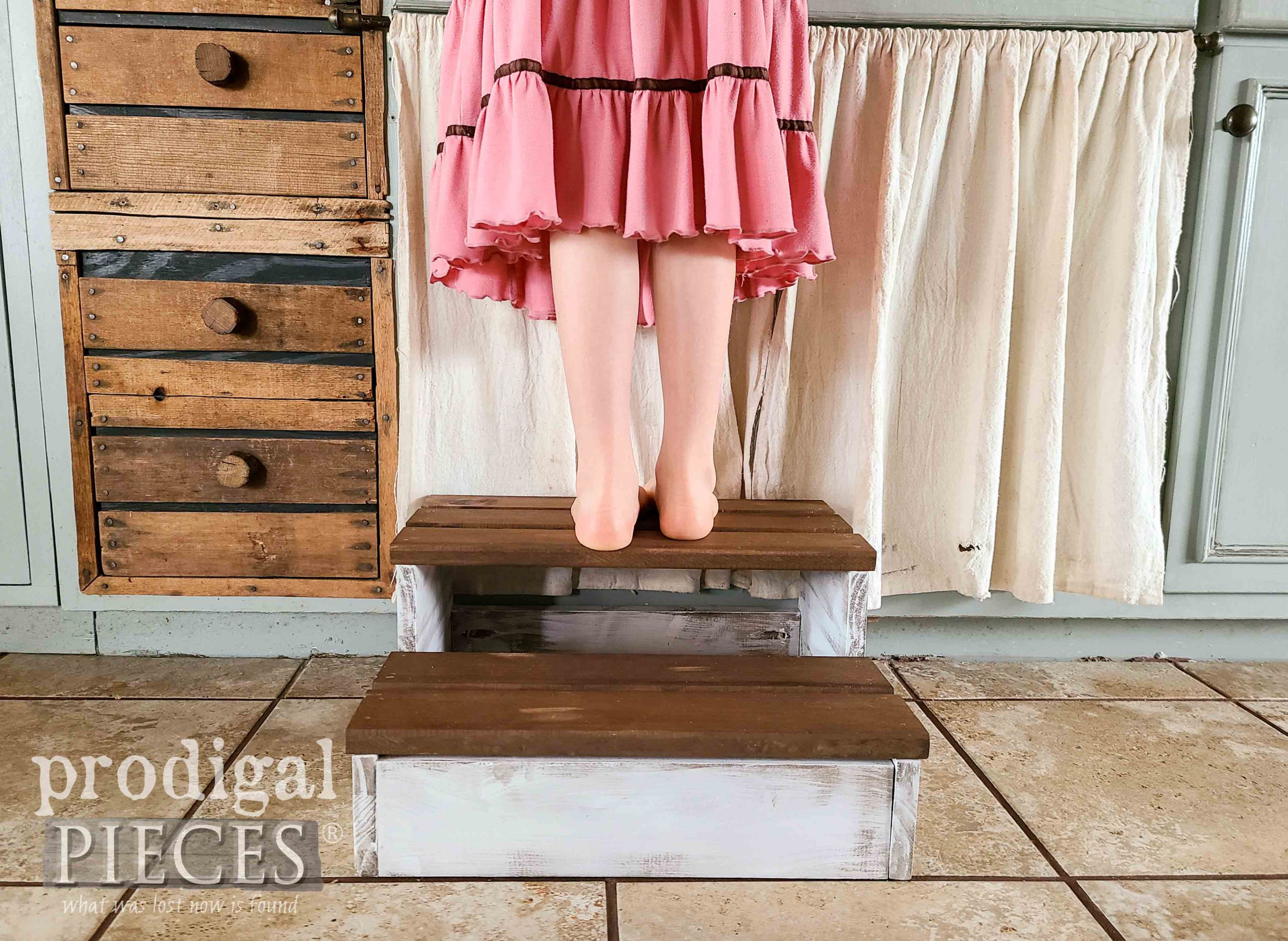 Rustic Wooden Step Stool DIY by Larissa of Prodigal Pieces | prodigalpieces.com #prodigalpieces #diy #home #woodworking #tutorial