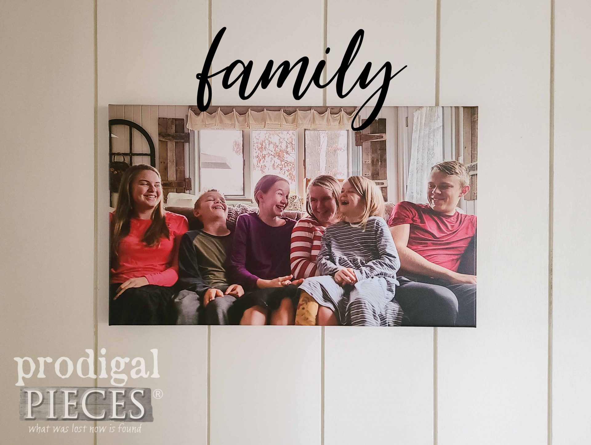 Script Family Photo Canvas Print by CanvasDiscount by Prodigal Pieces | prodigalpieces.com #prodigalpieces #family #gift #christmas