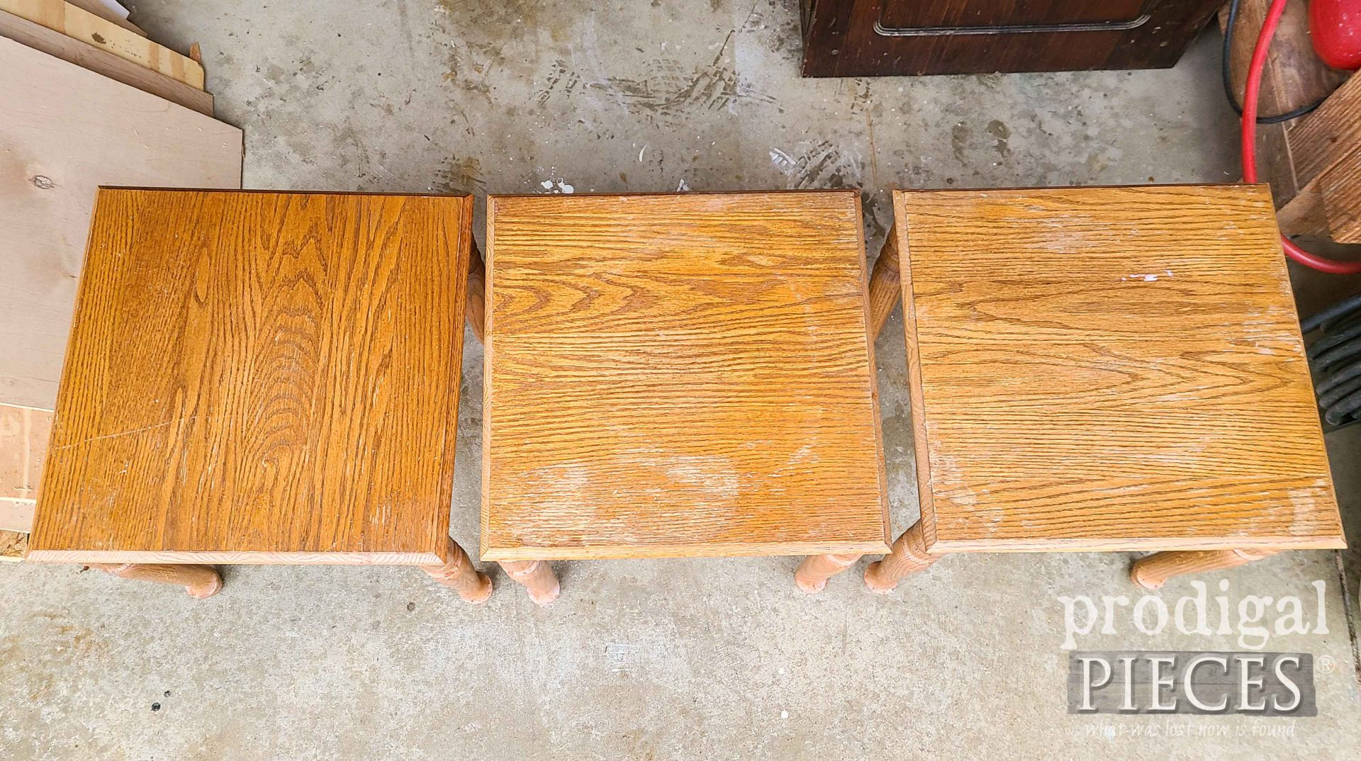 Vintage Stacking Table Tops | Prodigal Pieces | prodigalpieces.com