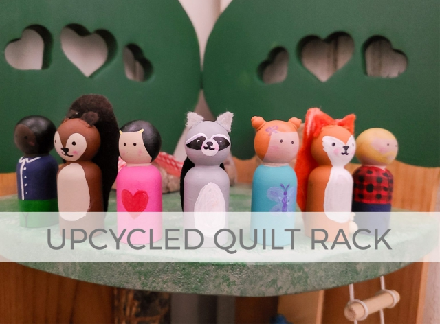 Upcycled Quilt Rack Woodland Treehouse Playset by Larissa of Prodigal Pieces | prodigalpieces.com #prodigalpieces
