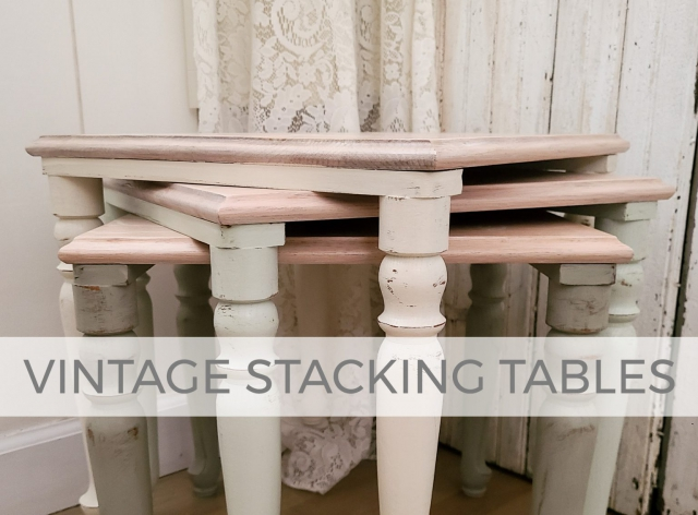 Vintage Stacking Tables Makeover by Larissa of Prodigal Pieces | prodigalpieces.com #prodigalpieces
