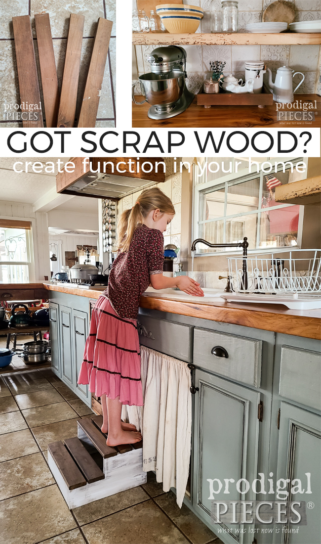 Create function & style in your home with these simple DIY wood slat projects using scrap wood. Details at Prodigal Pieces | prodigalpieces.com #prodigalpieces #diy #furniture #home #kitchen #farmhouse