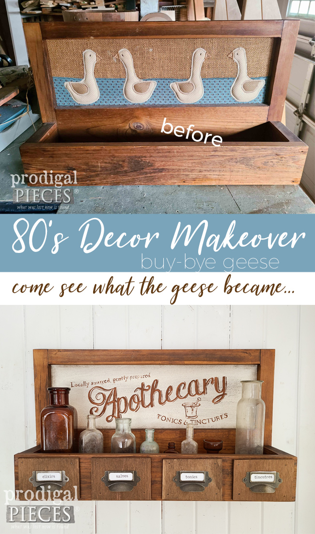 This 80's decor makeover produces two funtastic farmhouse pieces. Head to Prodigal Pieces to see | prodigalpieces.com #prodigalpieces #diy #home #farmhouse #homedecor