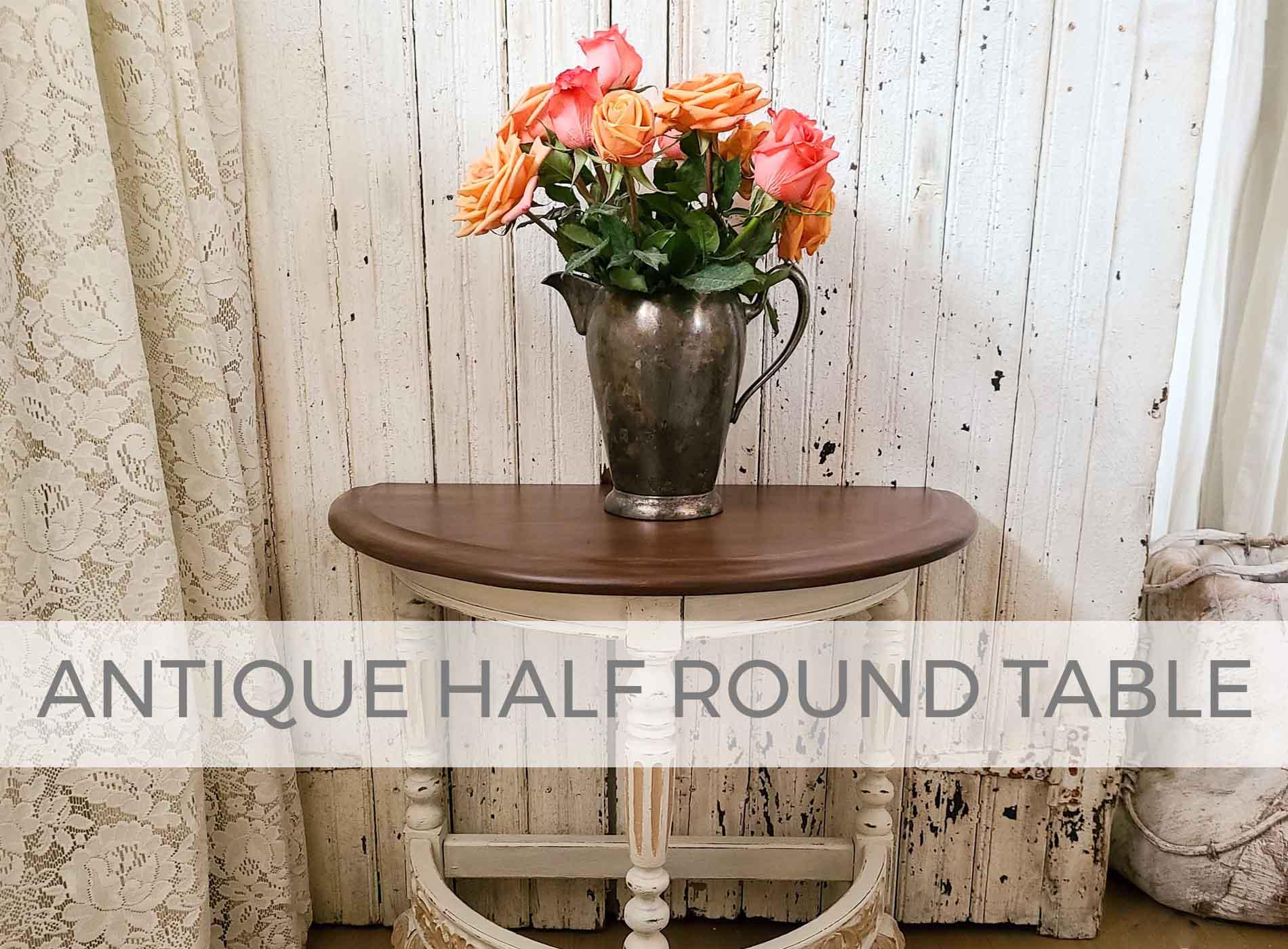 Antique Half Round Table Makeover by Larissa of Prodigal Pieces | prodigalpieces.com #prodigalpieces