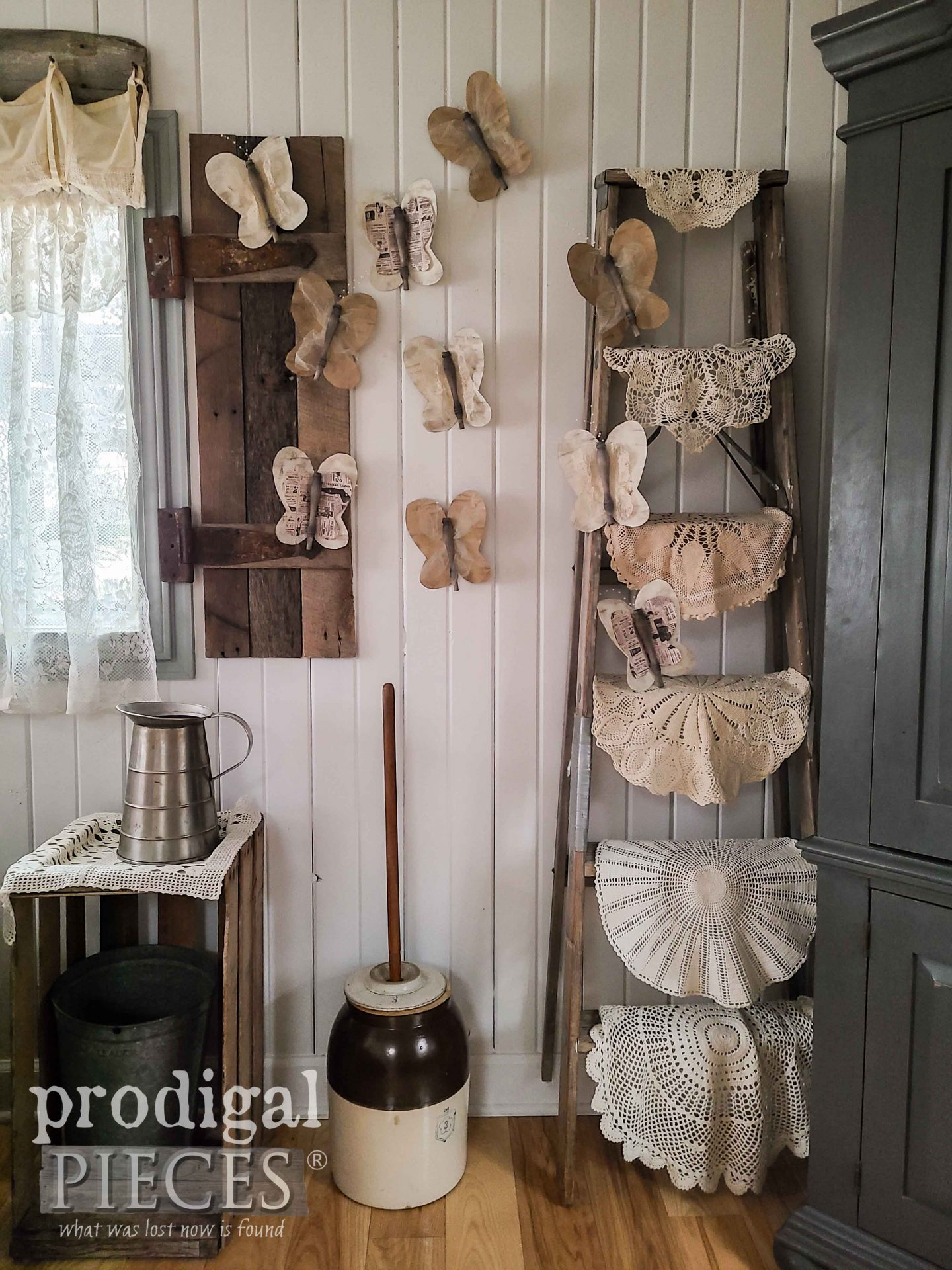 DIY Upcycled Butterflies for Salvaged Style Art by Larissa of Prodigal Pieces | prodigalpieces.com #prodigalpieces #diy #home #art #homedecor