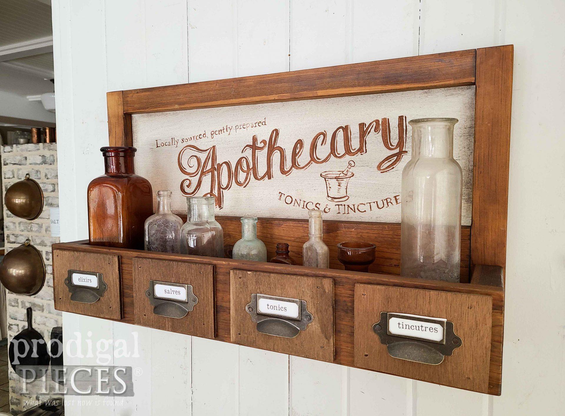 Farmhouse Apothecary Shelf by Larissa of Prodigal Pieces | prodigalpieces.com #prodigalpieces #diy #home #farmhouse