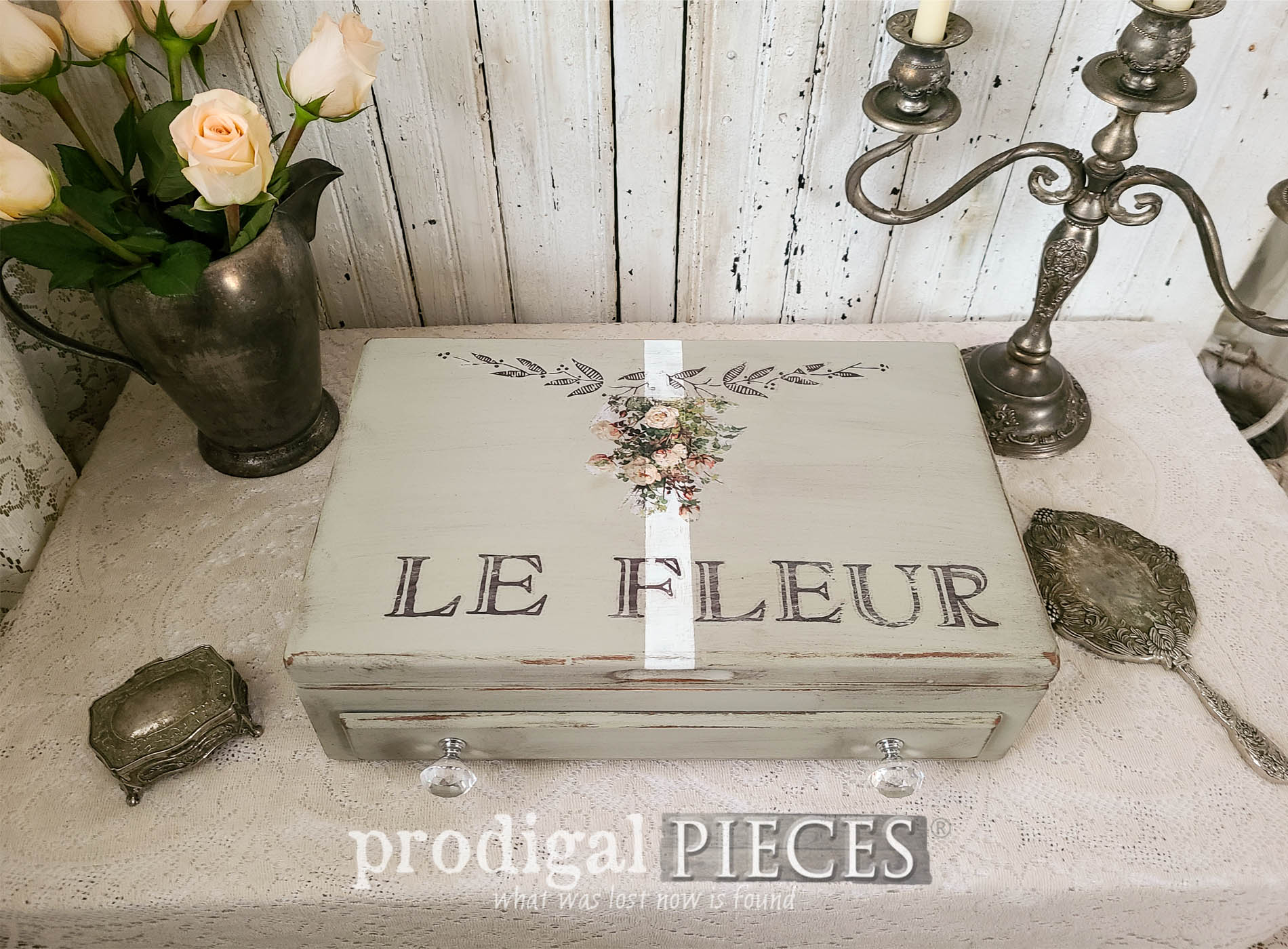 Featured Upcycled Silverware Chest into Home Decor Storage Box by Larissa of Prodigal Pieces | prodigalpieces.com #prodigalpieces