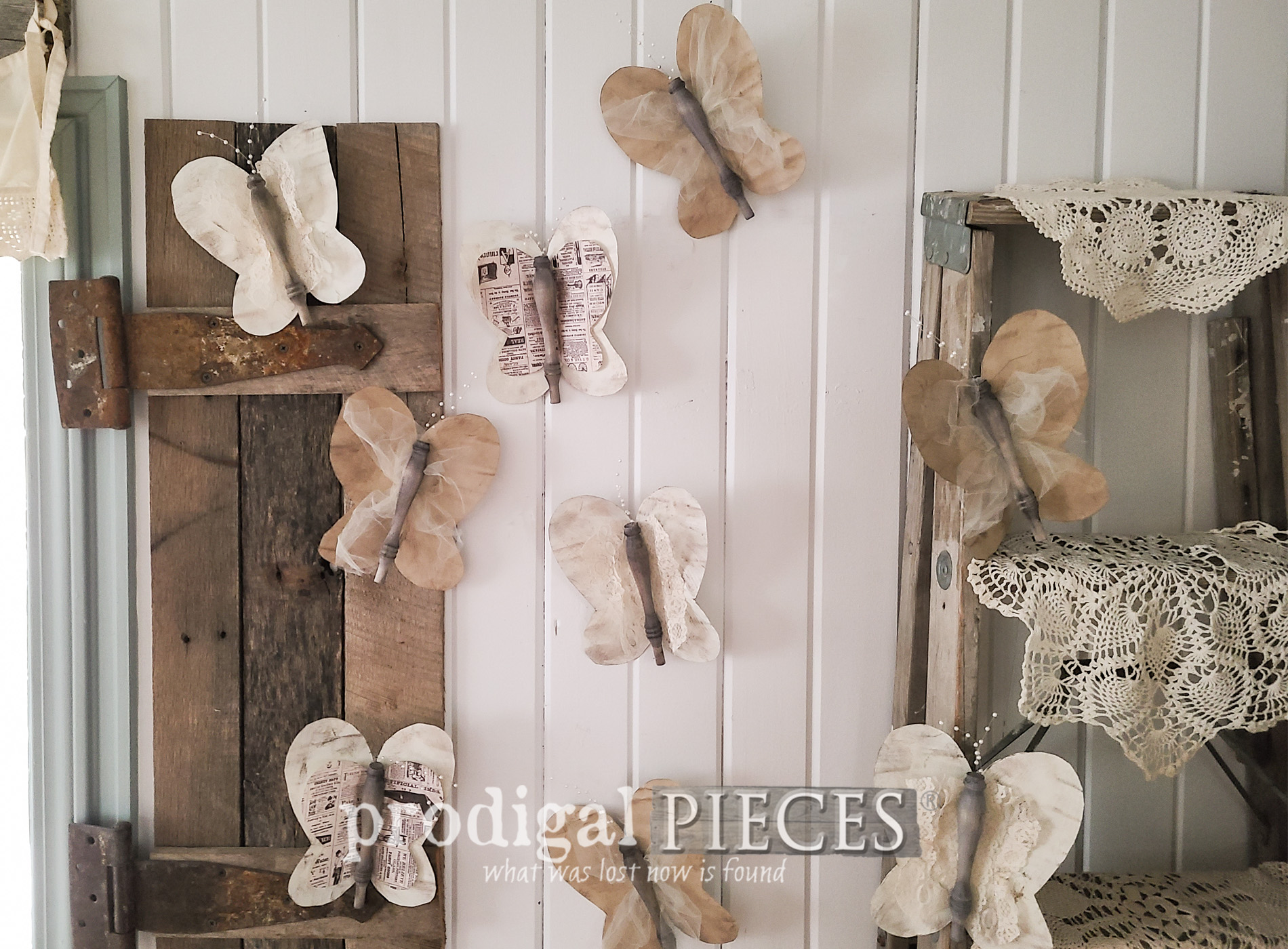 Featured Upcycled Spindle Butterflies by Larissa of Prodigal Pieces | prodigalpieces.com #prodigalpieces #diy #crafts #home #homedecor