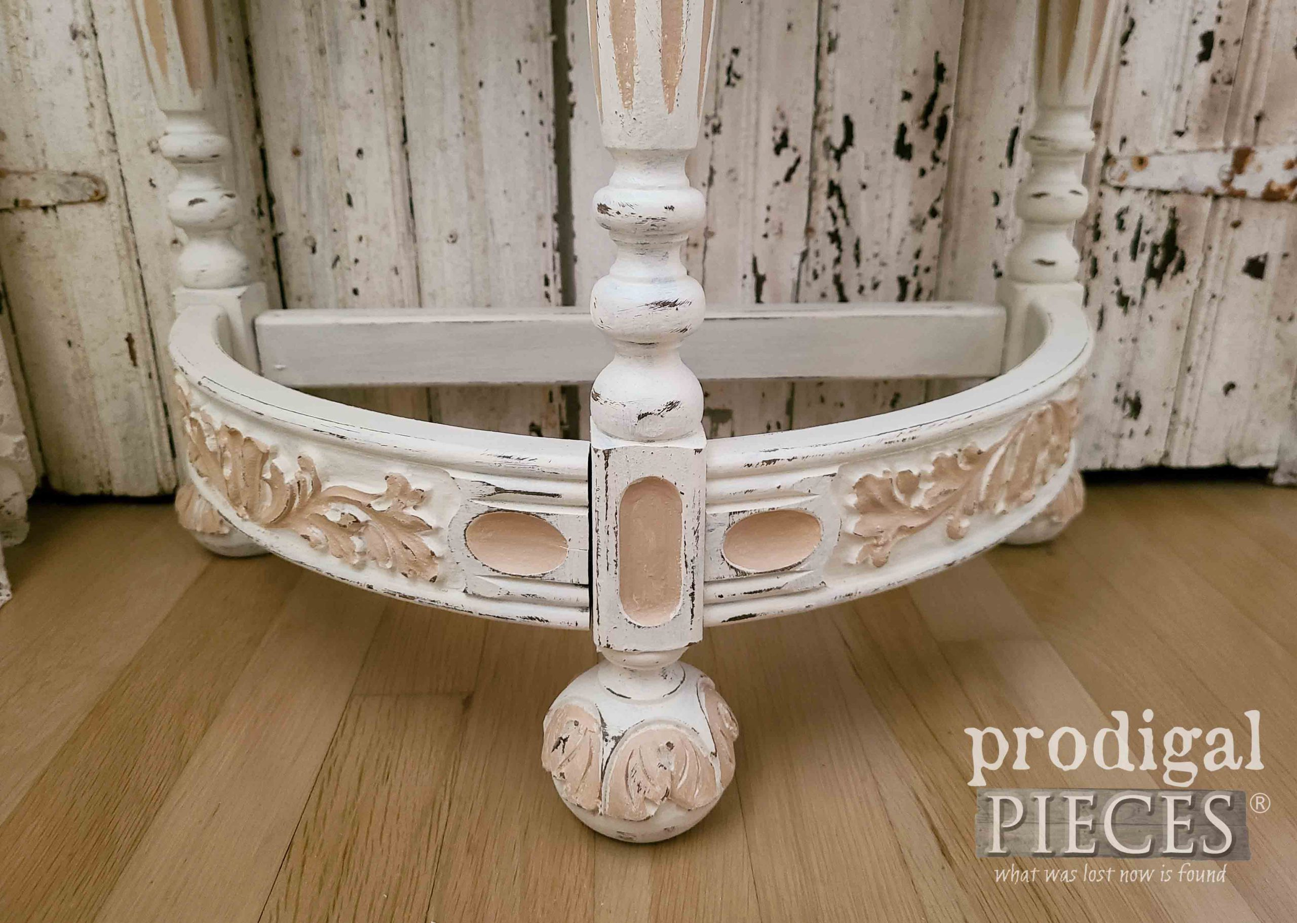 Intricately Carved Half Round Table by Prodigal Pieces | prodigalpieces.com #prodigalpieces
