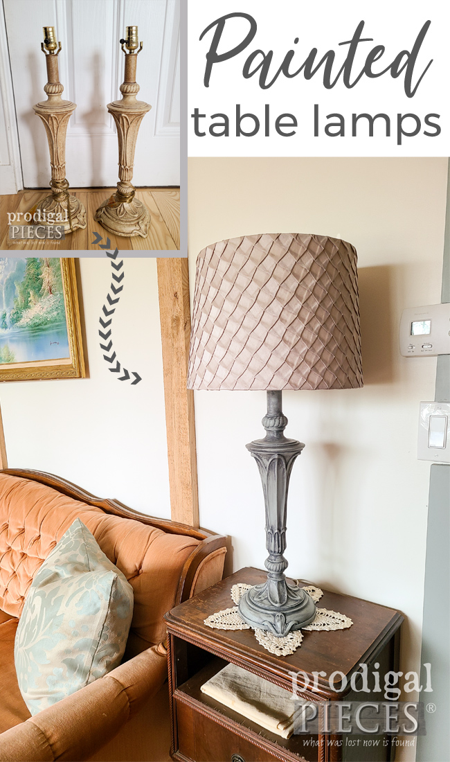 How to Paint Table Lamps the Easy Way by Larissa of Prodigal Pieces | prodigalpieces.com #prodigalpieces #diy #home #homedecor