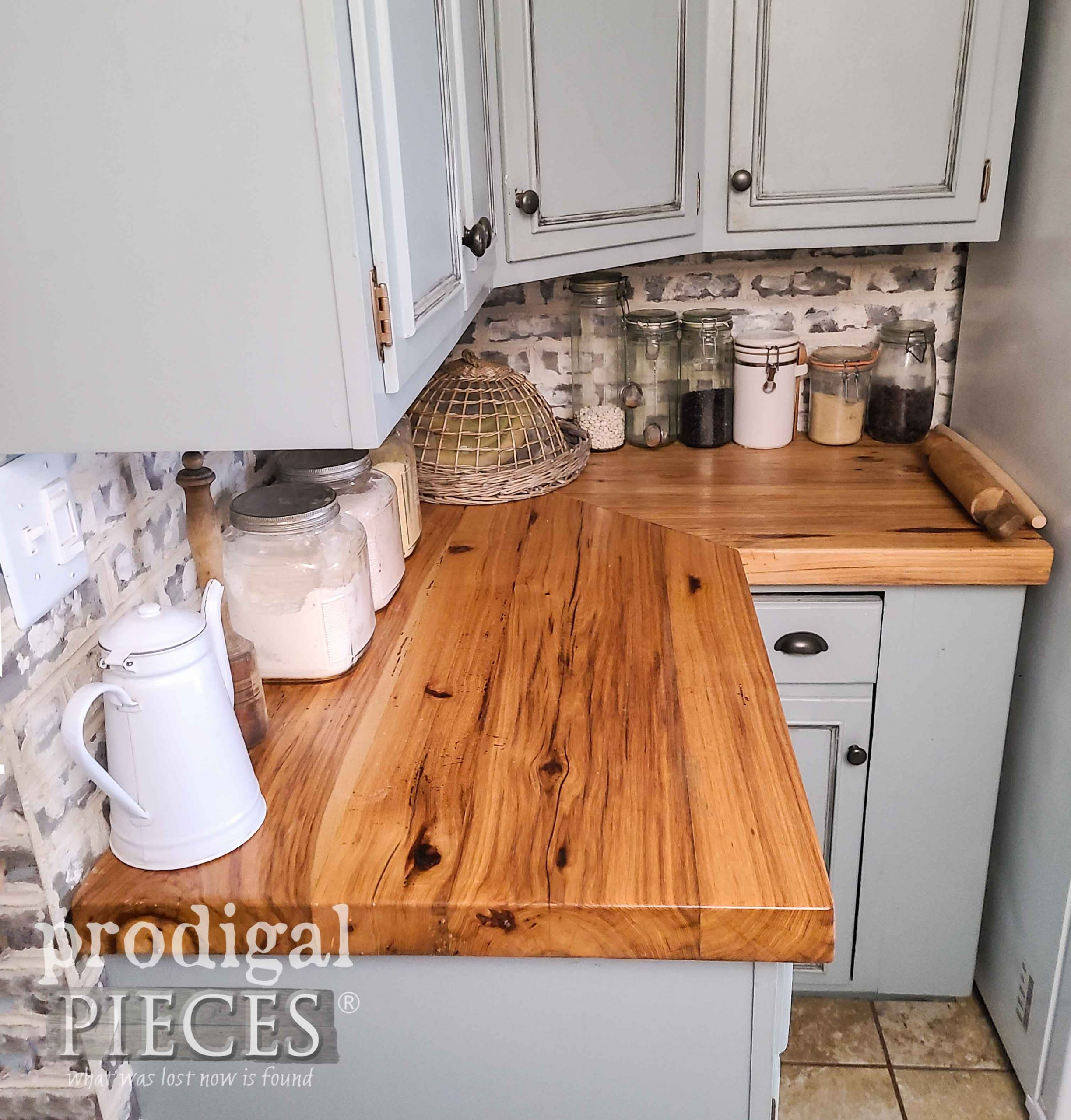 Reclaimed Wood Kitchen Counters by Prodigal Pieces | prodigalpieces.com #prodigalpieces #farmhouse #diy #home #kitchen