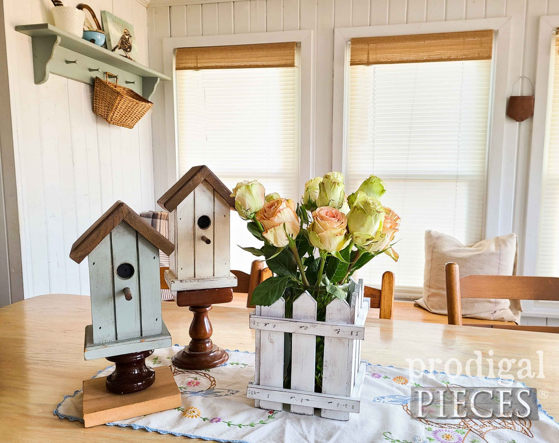 Simple Spring Home Decor from Upcycled Vintage Shelf by Larissa of Prodigal Pieces   prodigalpieces.com #prodigalpieces #diy #home #homedecor #vintage