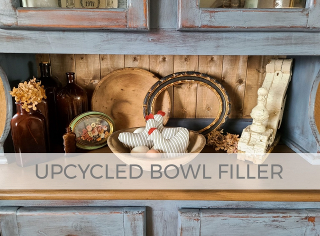 Upcycled Bowl Filler from Refashioned Clothes by Larissa of Prodigal Pieces | prodigalpieces.com #prodigalpieces