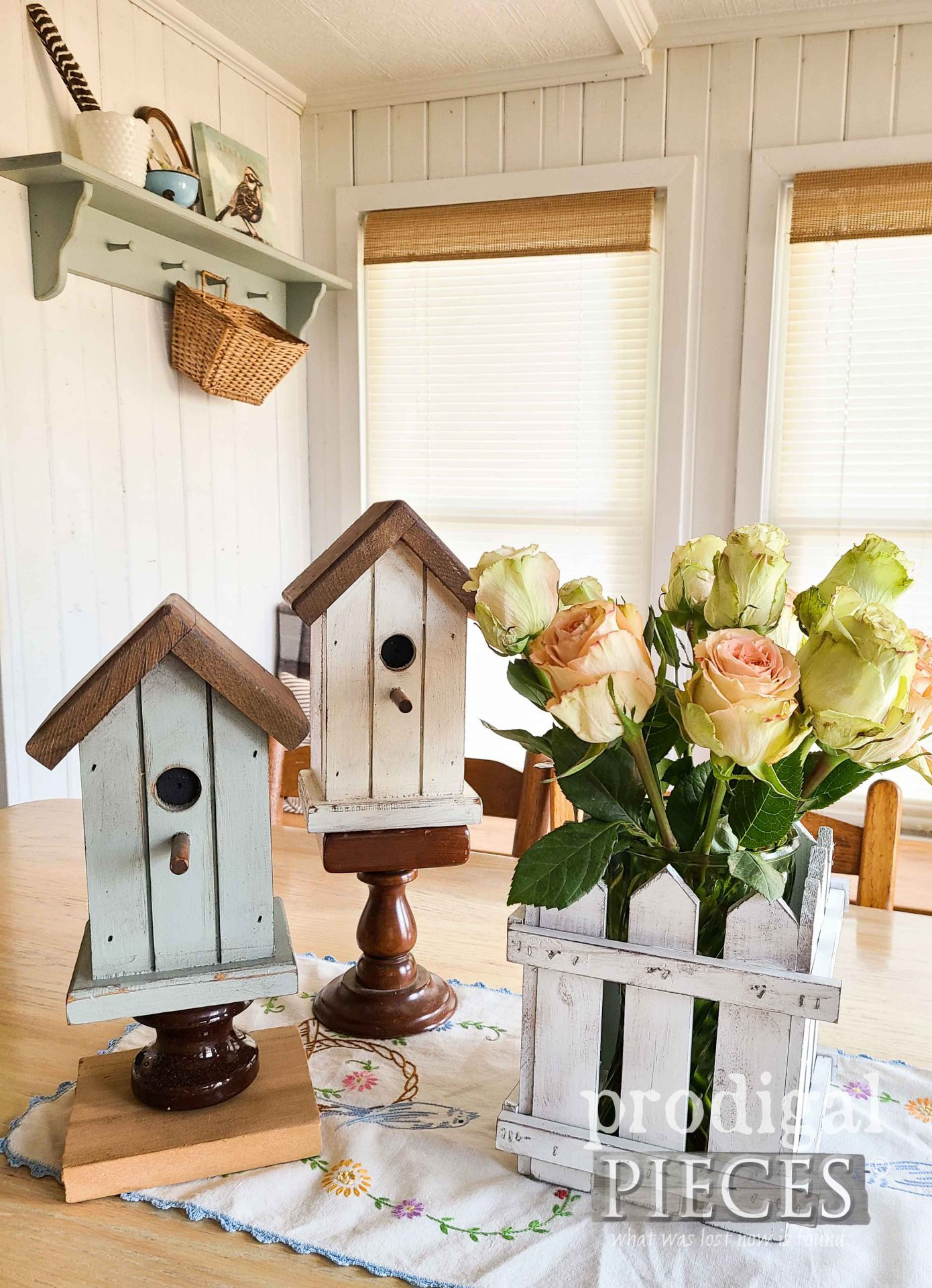 Upcycled Vintage Shelf into Cottage Decor by Larissa of Prodigal Pieces | prodigalpieces.com #prodigalpieces #cottage #home #homedecor