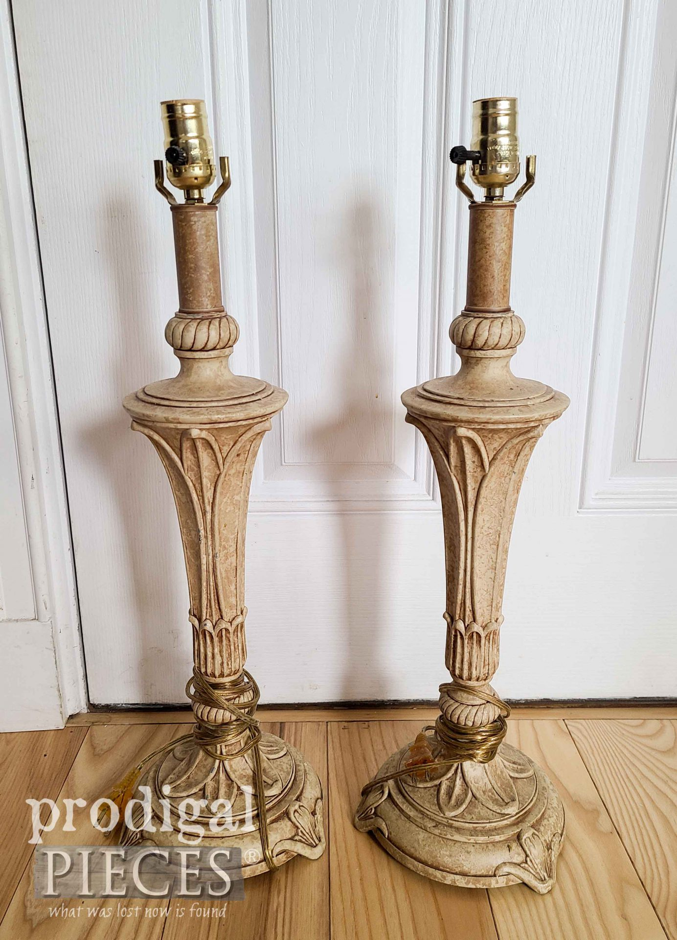 Thrifted Vintage Table Lamps Before Makeover | prodigalpieces.com