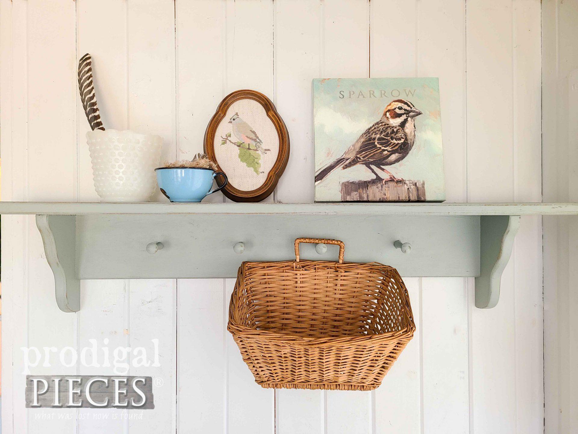 Upcycled Vintage Peg Shelf by Larissa of Prodigal Pieces | prodigalpieces.com #prodigalpieces #vintage #farmhouse #home #homedecor