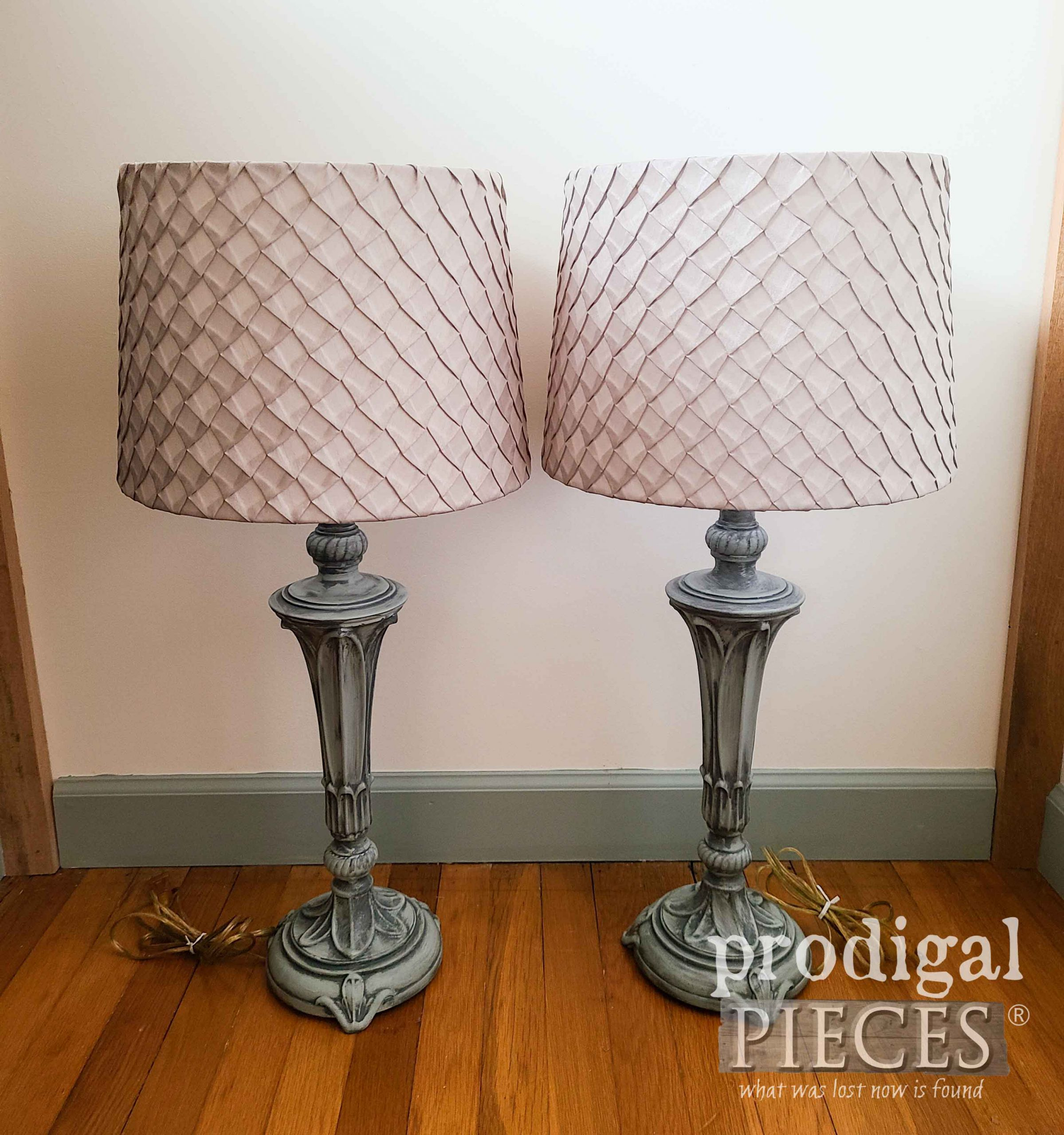 Vintage Painted Table Lamps Pair Refinished by Larissa of Prodigal Pieces | prodigalpieces.com #prodigalpieces #vintage #diy #home #homedecor