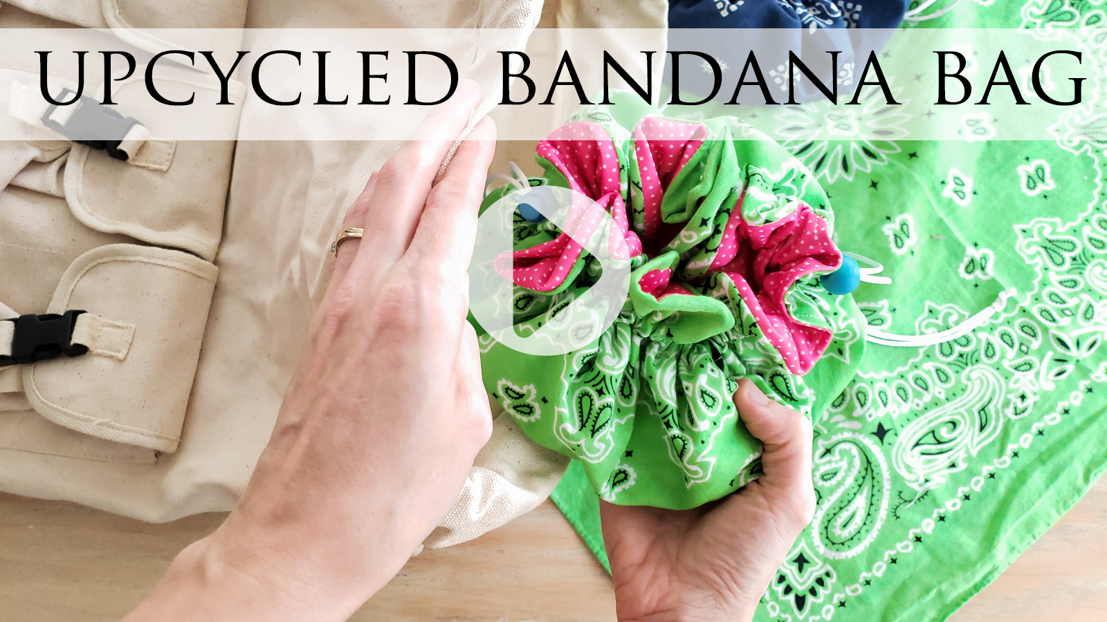 DIY Upcycled Bandana Drawstring Bag Tutorial by Larissa of Prodigal Pieces | prodigalpieces.com