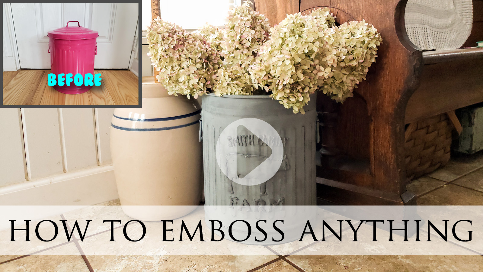 Video Tutorial How to Emboss Anything by Larissa of Prodigal Pieces | prodigalpieces.com