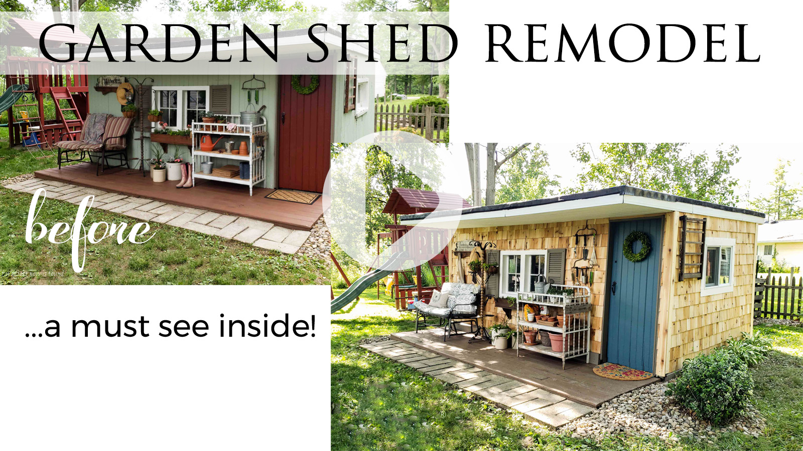 DIY Garden Shed Reveal Video Tour by Larissa of Prodigal Pieces | prodigalpieces.com