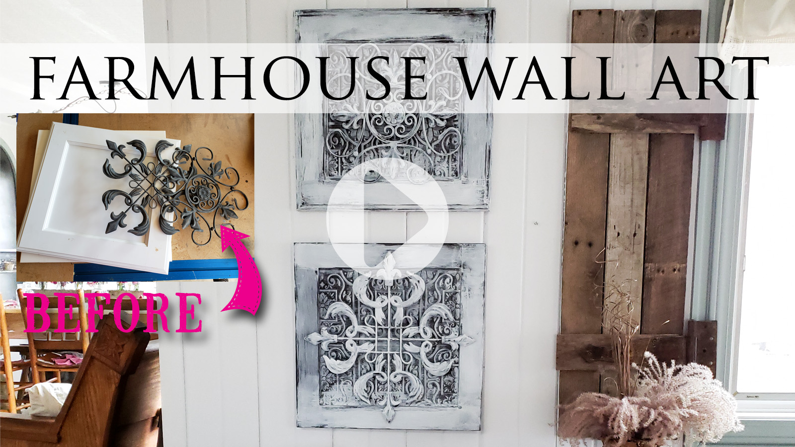 Upcycled Farmhouse Wall Art by Prodigal Pieces | prodigalpieces.com