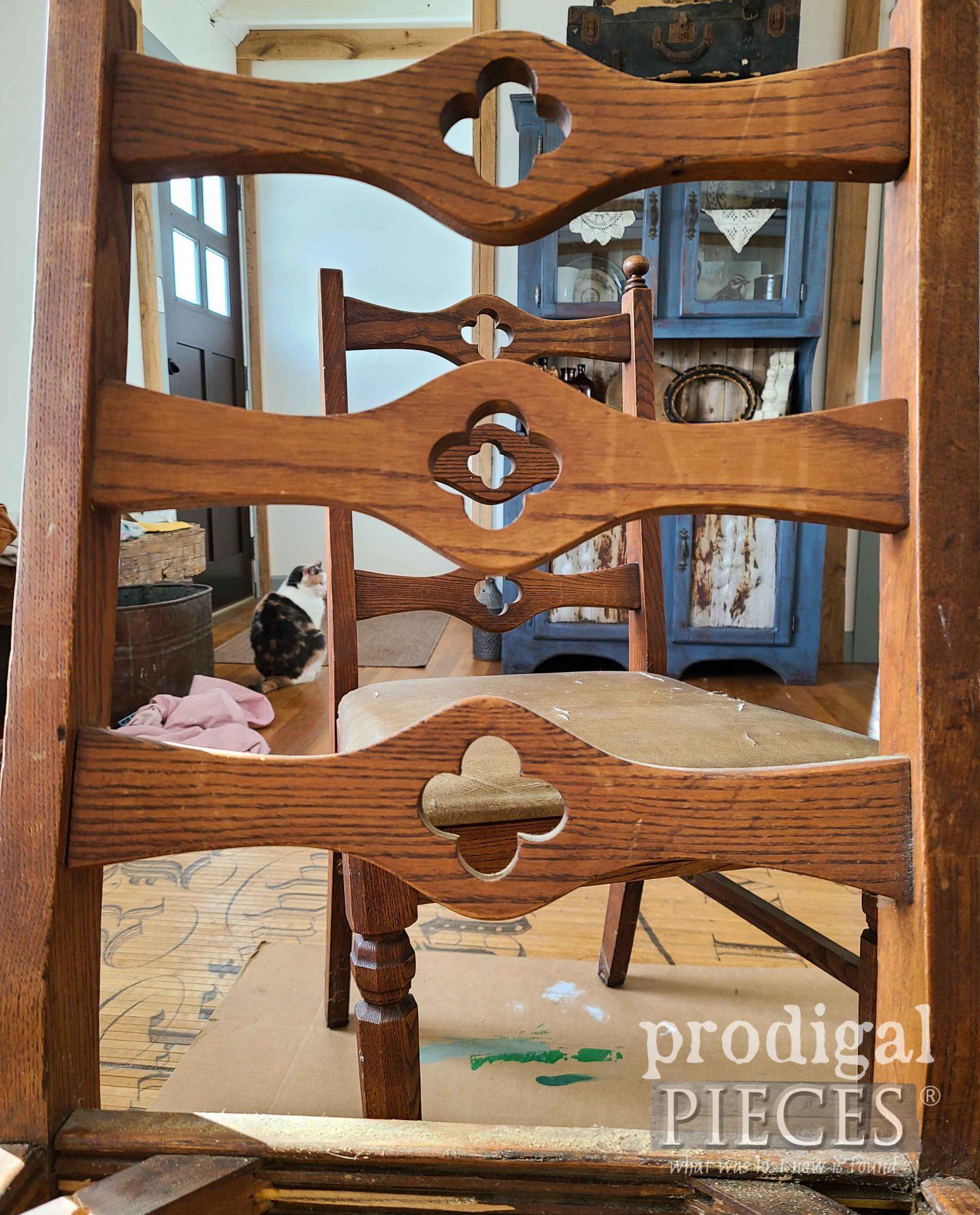 Vintage Oak Chair Backs | prodigalpieces.com