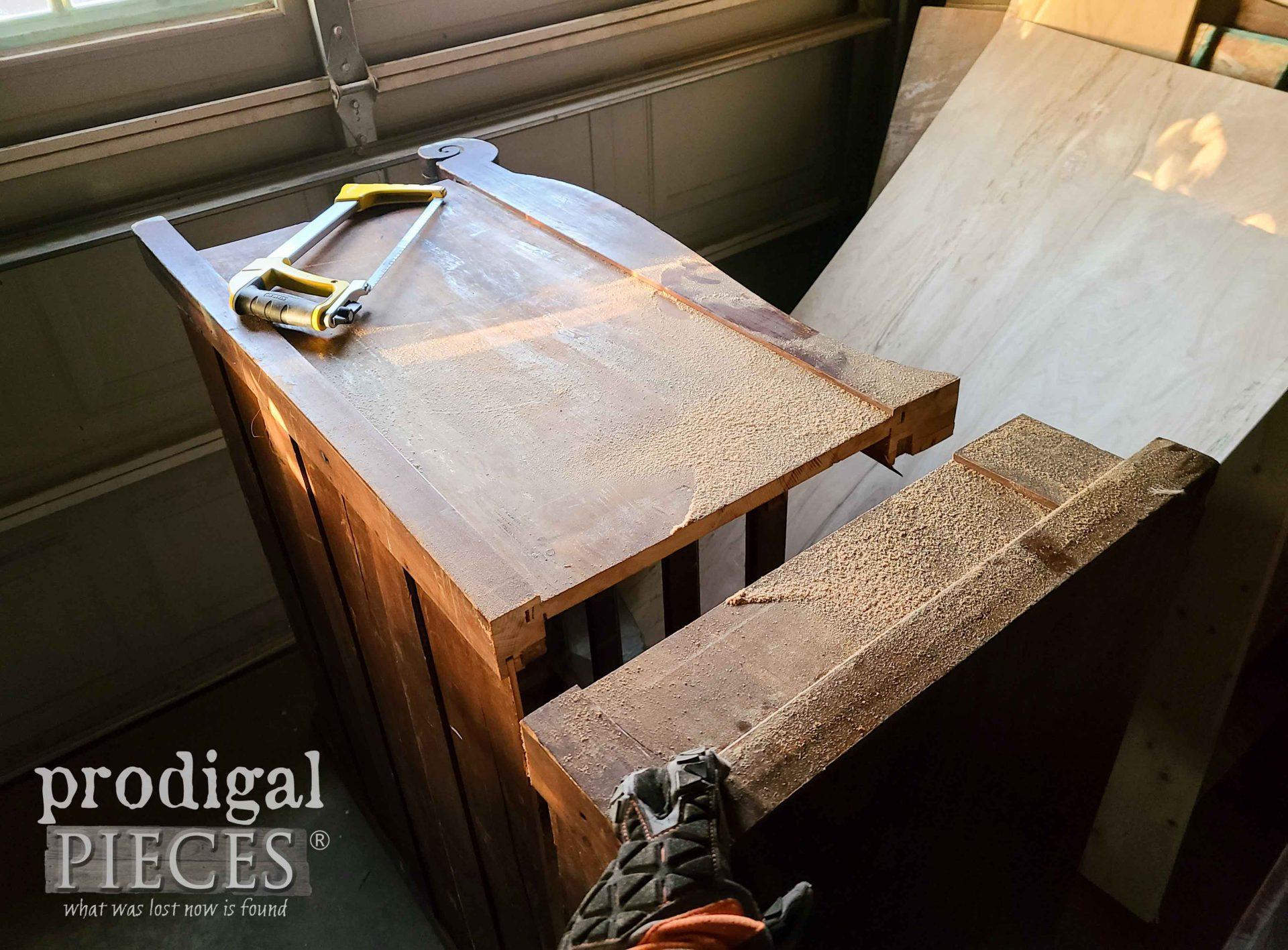 Cut Antique Empire Chest Top | prodigalpieces.com