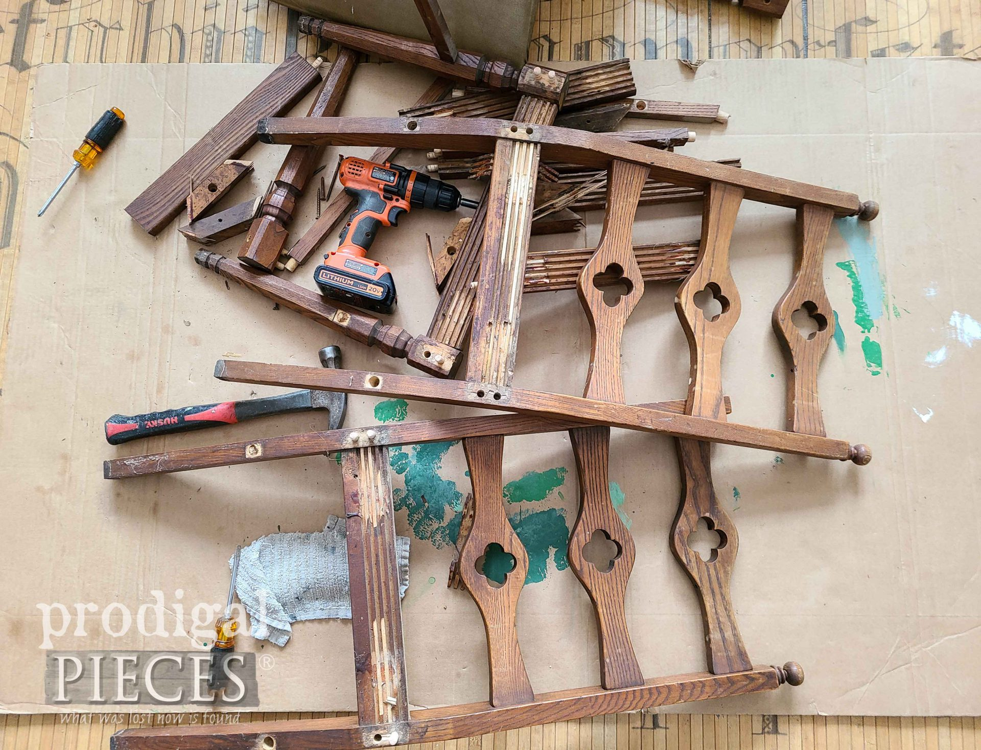 Disassembles Chair Parts for Salvaged Art | prodigalpieces.com
